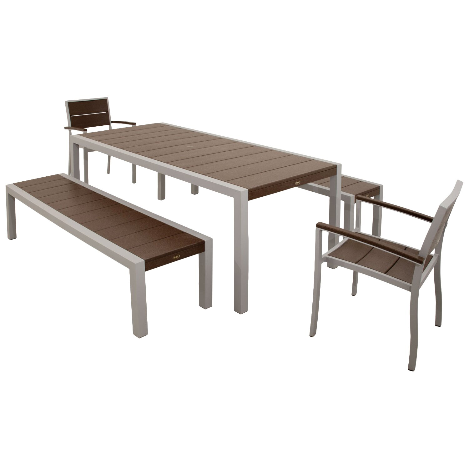 trex surf city 5 piece bench dining set reviews wayfair