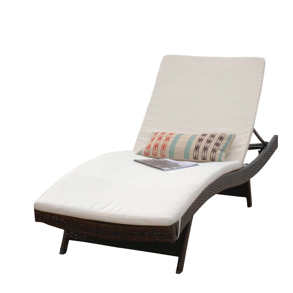Home loft concepts outdoor sunbrella chaise lounge cushion for Chaise lounge cushion outdoor