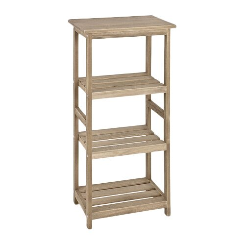 House additions low narrow 87cm etagere reviews wayfair uk for Etagere bois brut