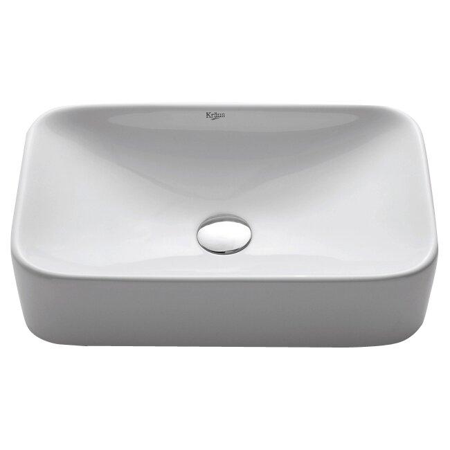 Kraus Ceramic Rectangular Bathroom Sink & Reviews