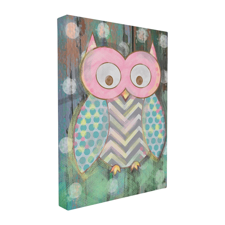 Stupell Industries The Kids Room Distressed Woodland Owl