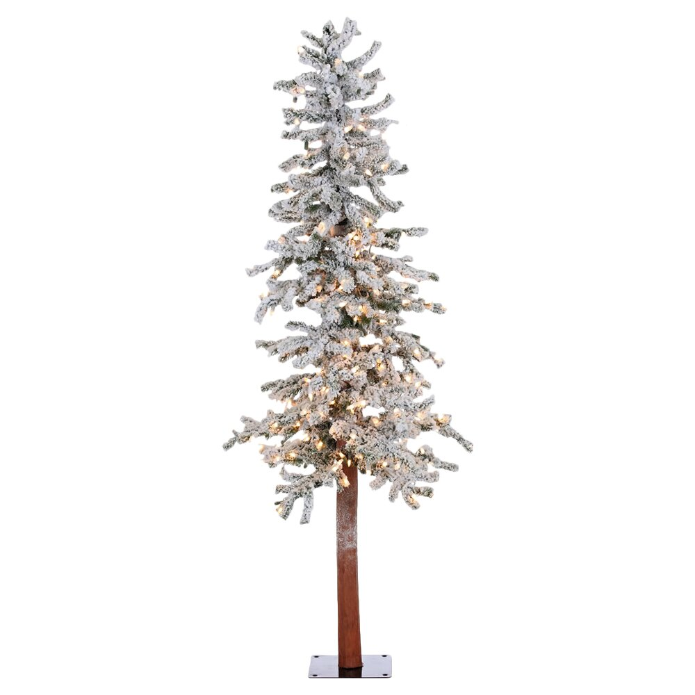 vickerman 5 39 flocked spruce alpine white artificial christmas tree with 250 clear lights. Black Bedroom Furniture Sets. Home Design Ideas