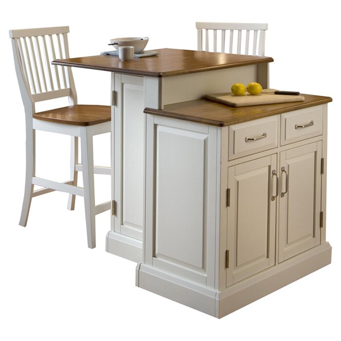Woodbridge Kitchen Cabinets: Home Styles Woodbridge 3 Piece Kitchen Island Set With