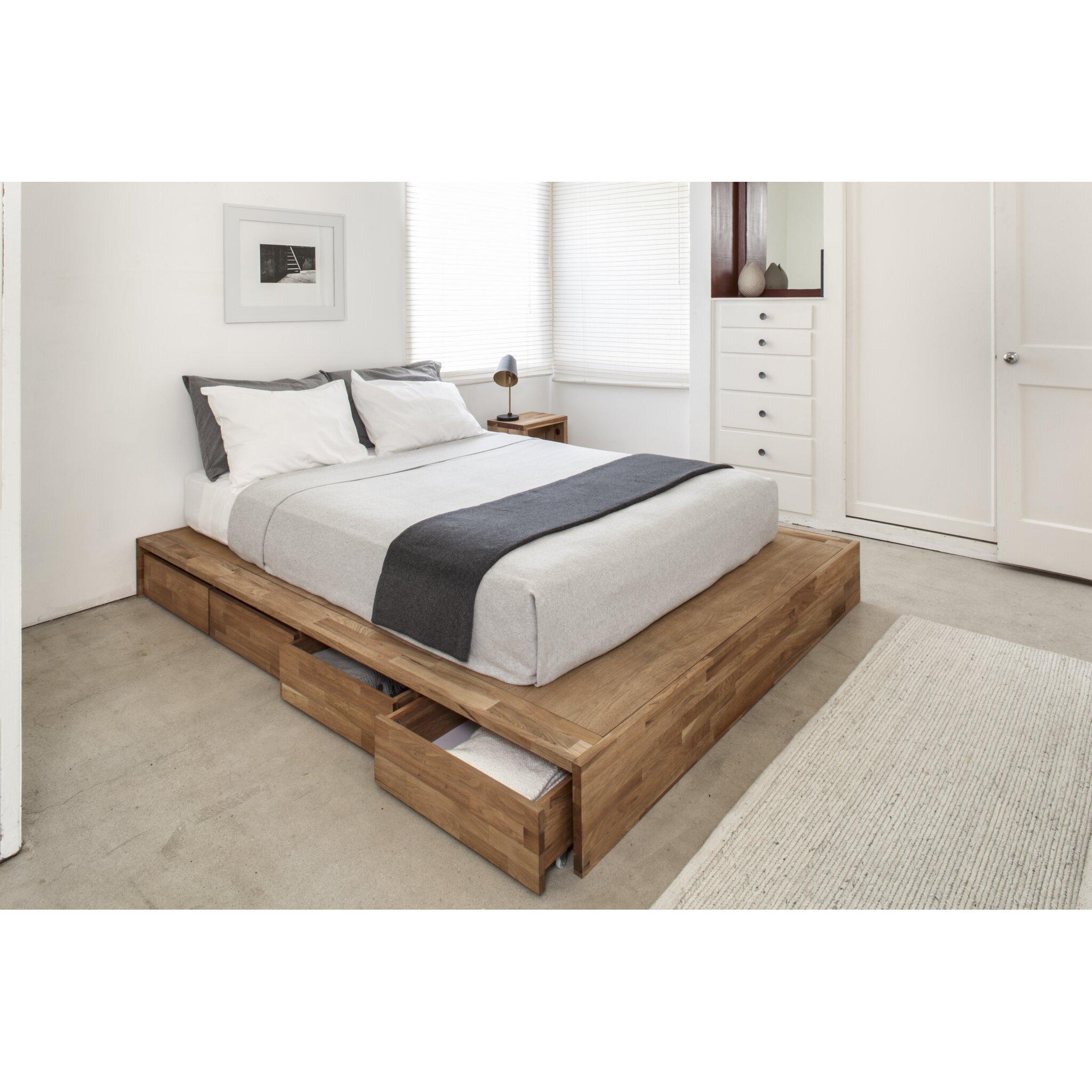 Lax Series Storage Platform Bed By Mash Studios