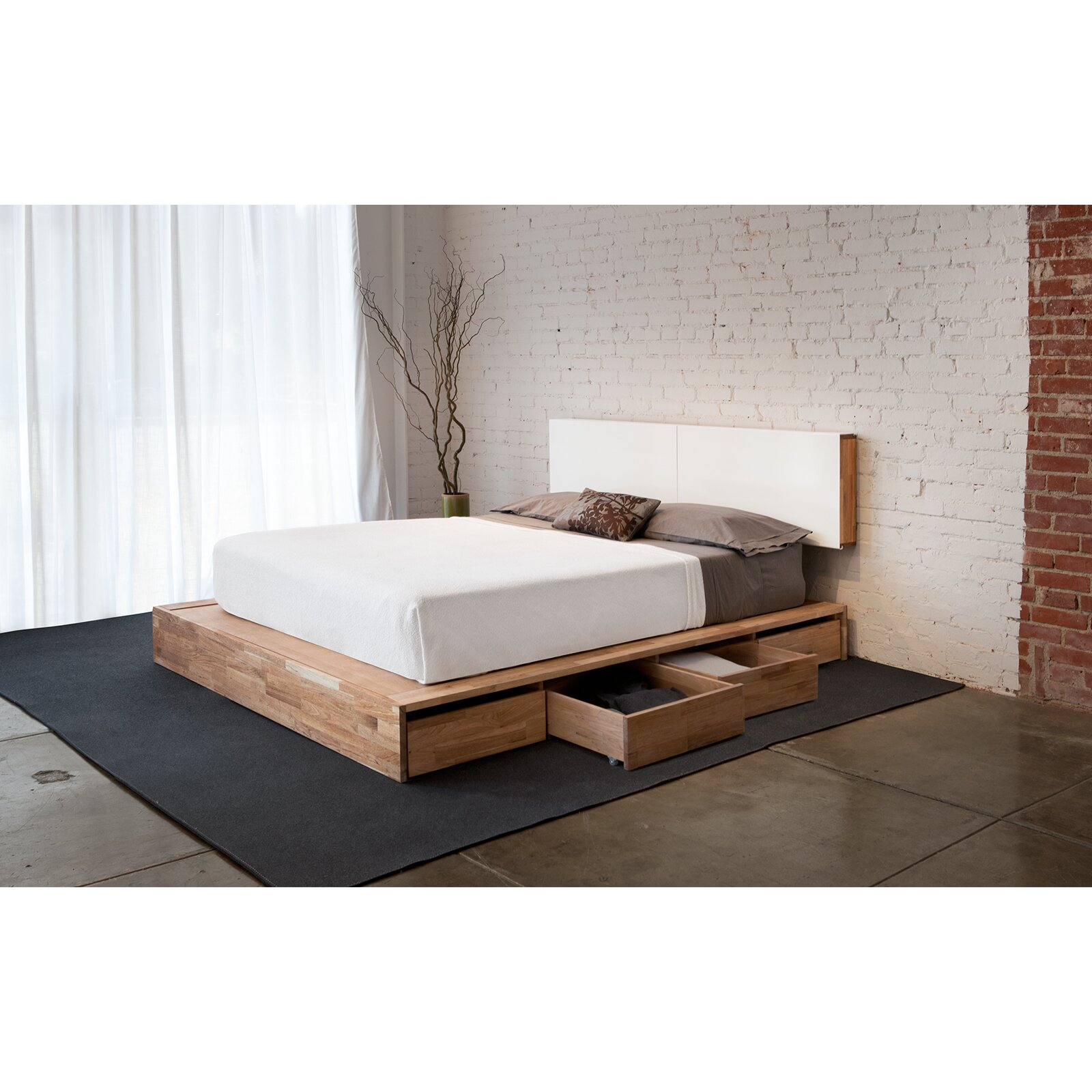 Mash Studios Lax Series Wood And Metal Panel Headboard