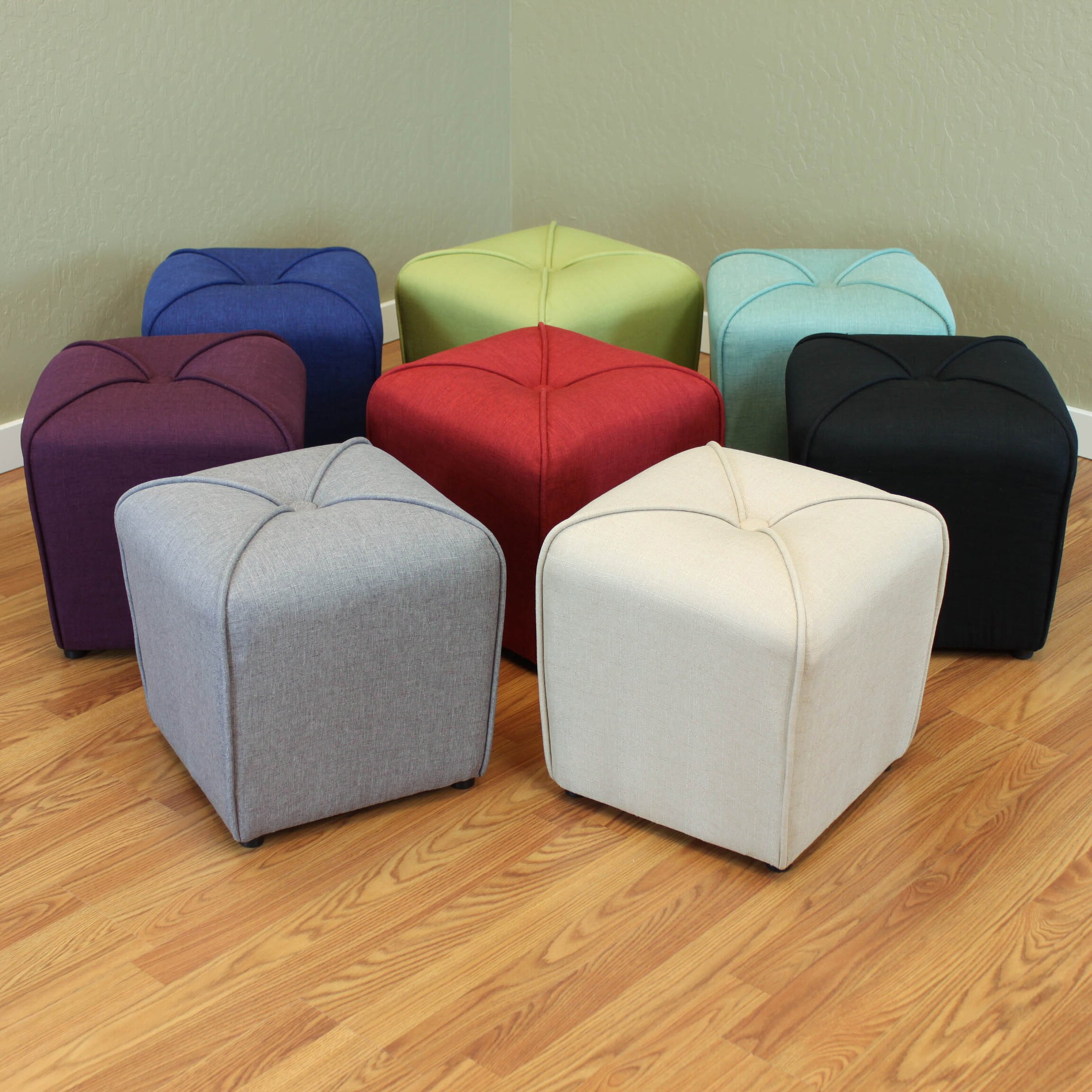 Three Posts Polycarp Storage Ottoman Reviews: Three Posts Mapletown Upholstered Ottoman & Reviews