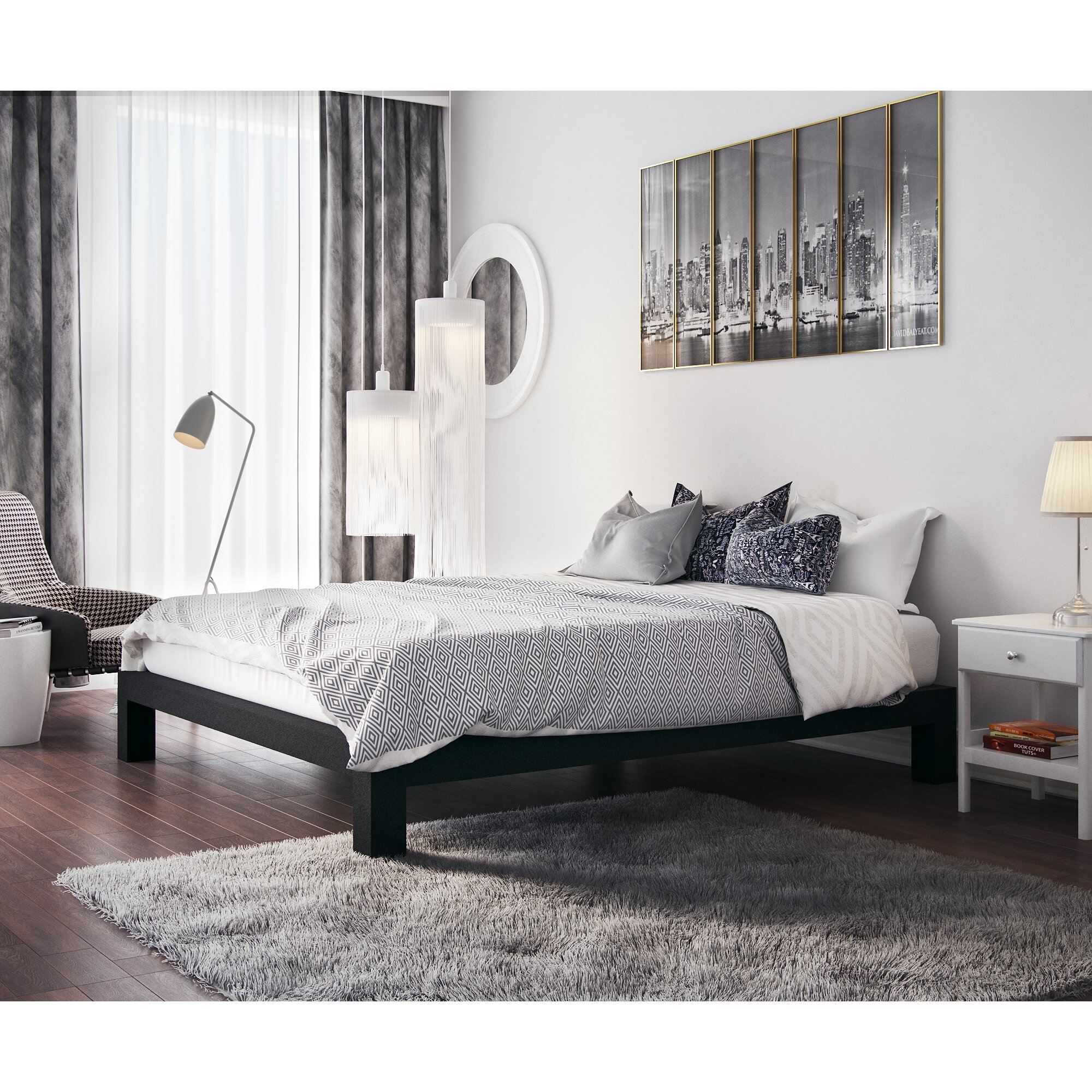 In style furnishings stella bed frame reviews wayfair for Metal bedroom furniture