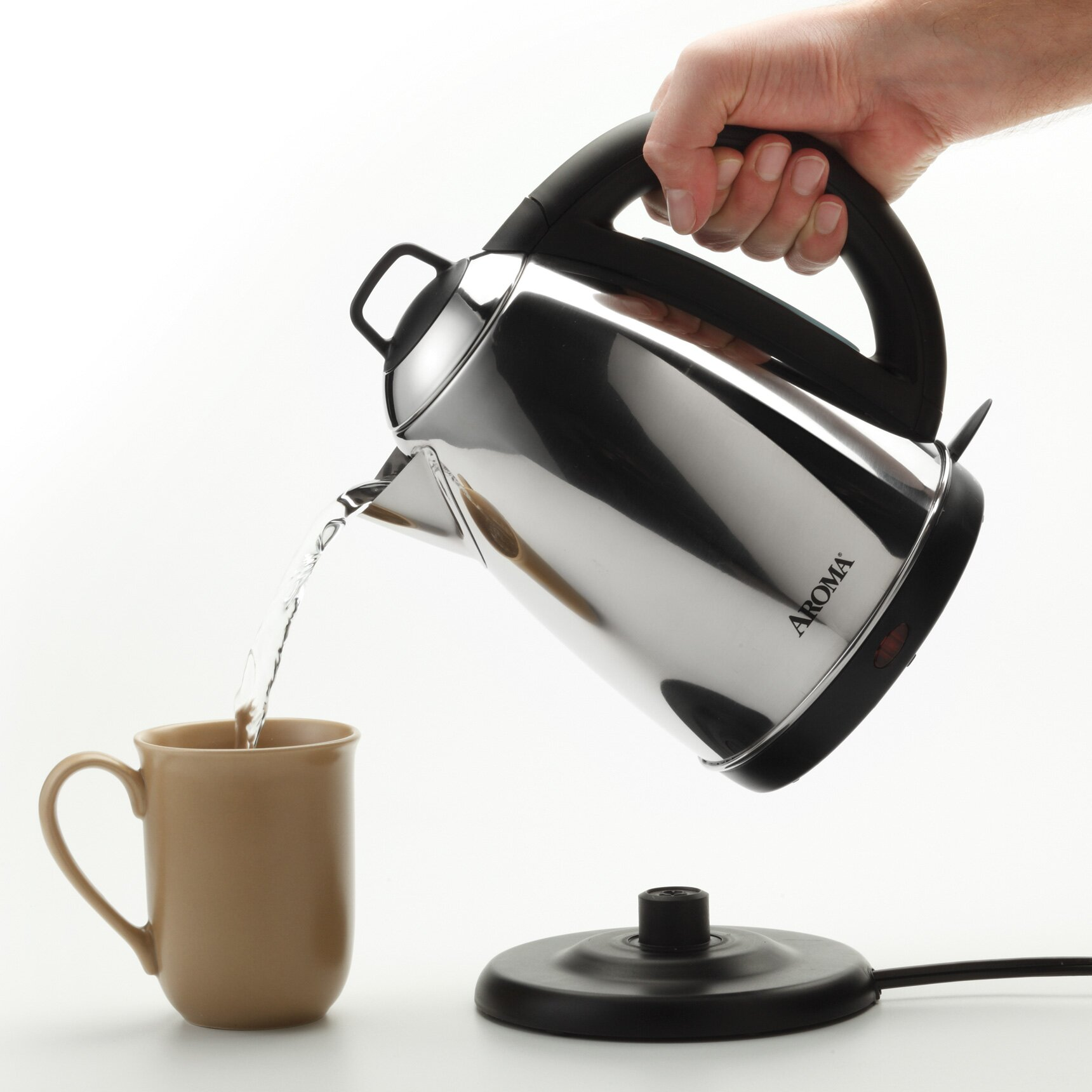Aroma 1 5 Qt Electric Kettle Amp Reviews Wayfair