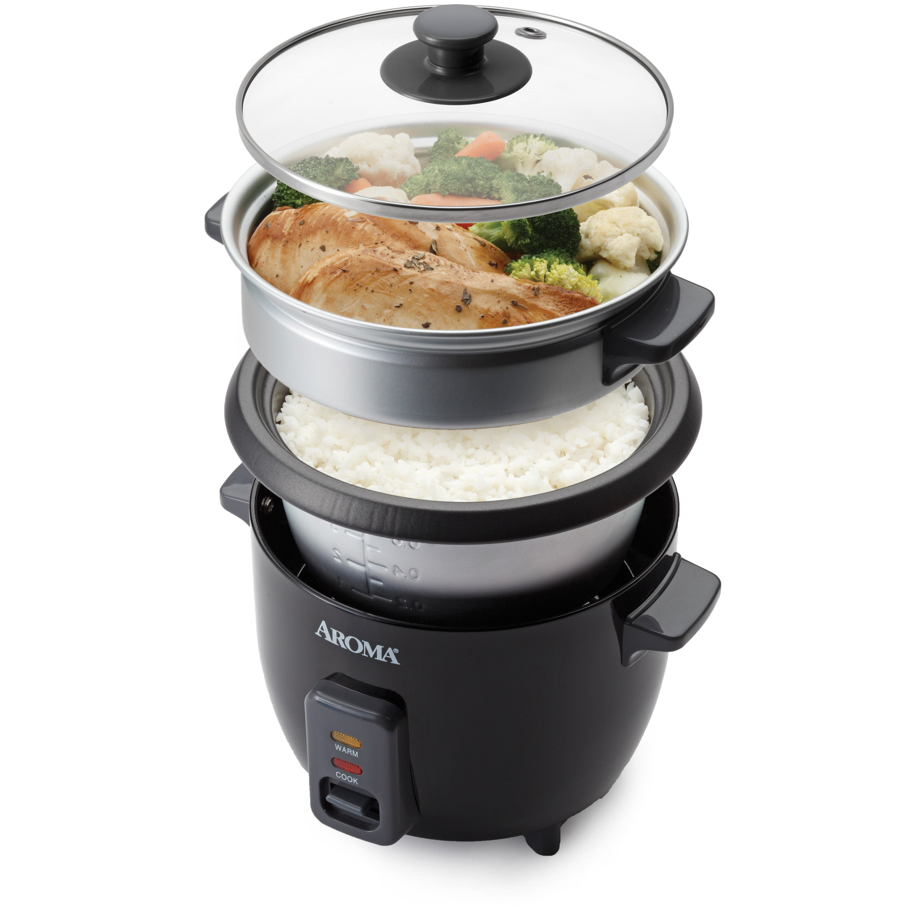 Aroma 6 Cup Rice Cooker Amp Reviews Wayfair