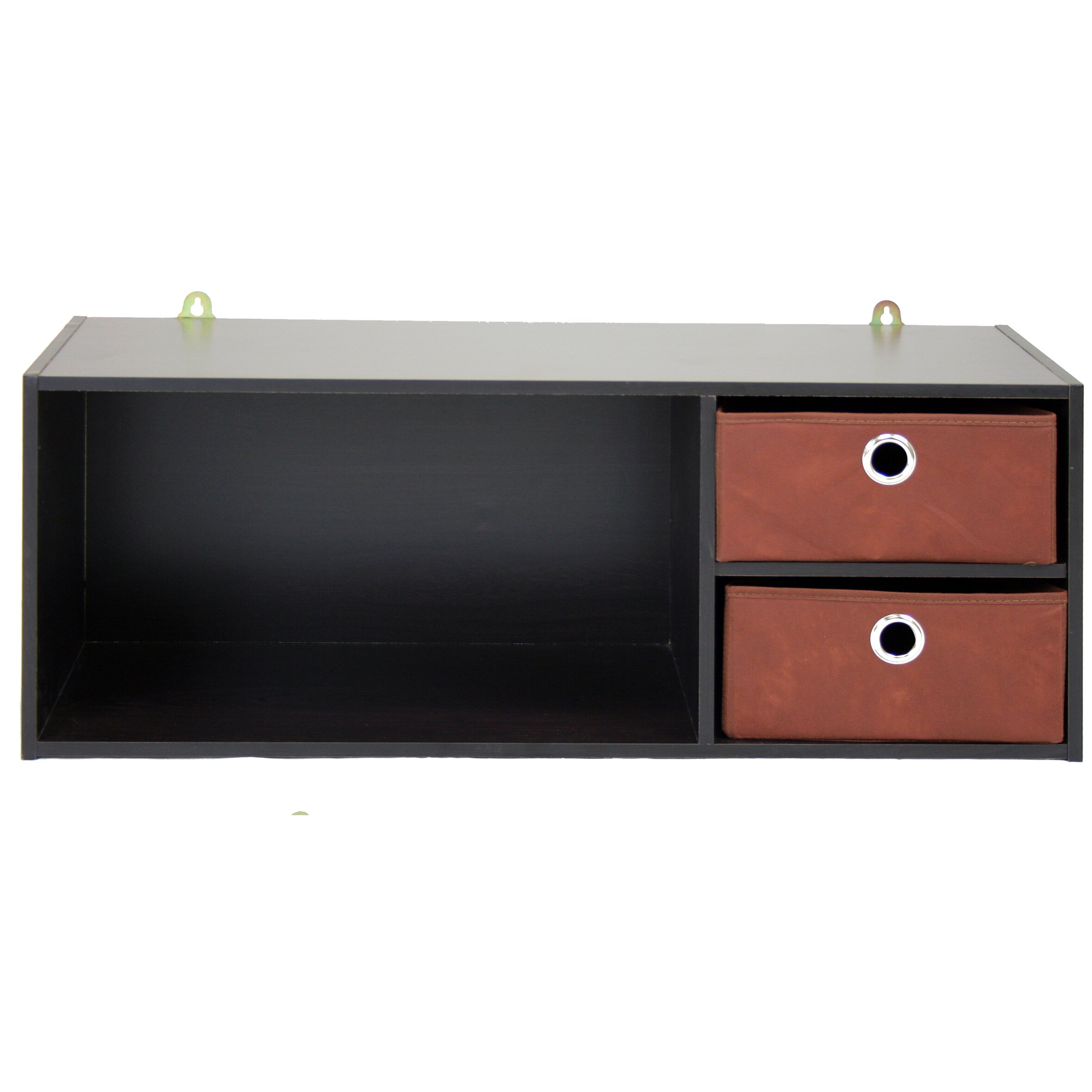 wildon home wall mounted storage desk hutch reviews. Black Bedroom Furniture Sets. Home Design Ideas