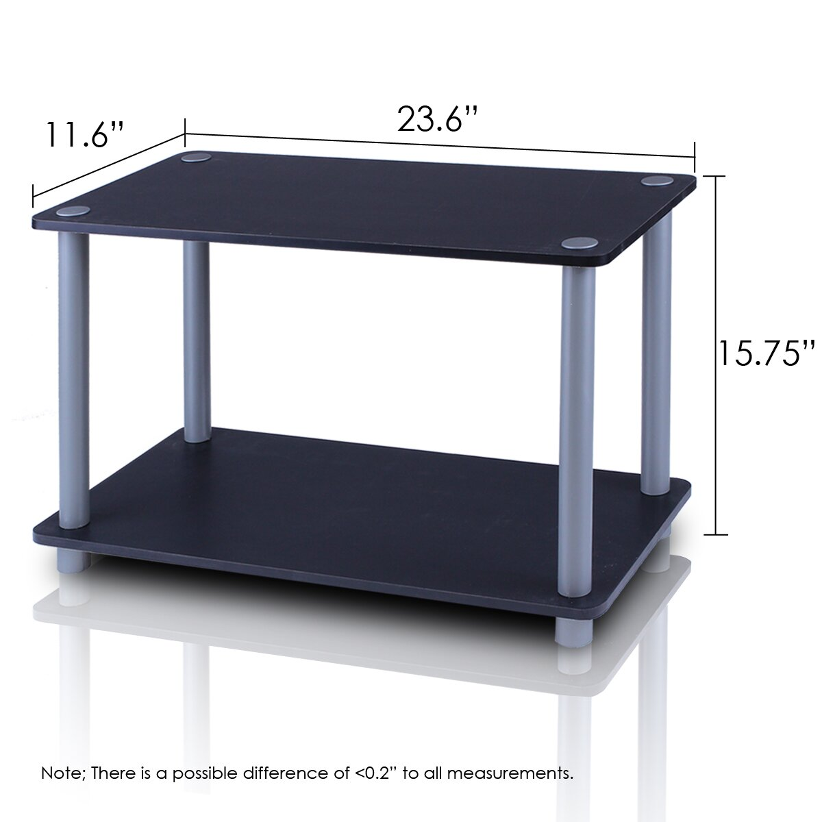 Furinno Turn N Tube 2 Tier Shelves End Table Amp Reviews