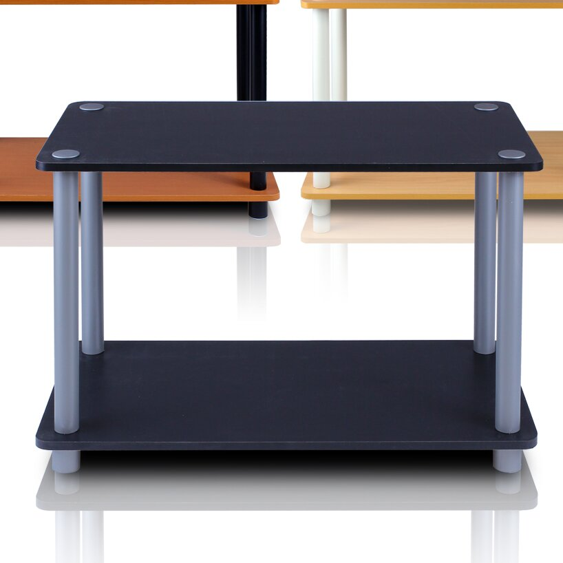 furinno turn 39 n 39 tube 2 tier shelves end table reviews wayfair. Black Bedroom Furniture Sets. Home Design Ideas