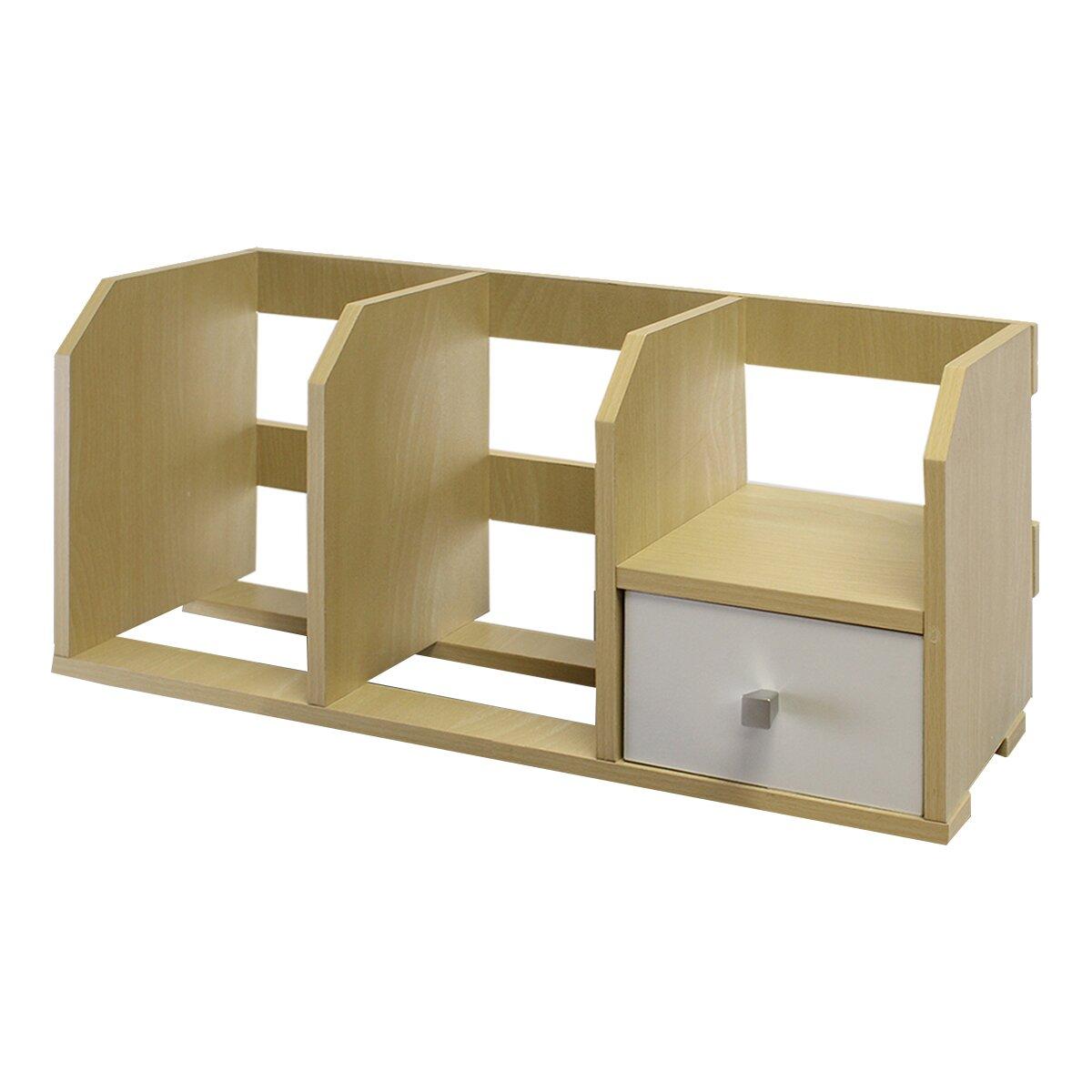 Furinno pasir desk storage shelf with bin reviews wayfair - Desk shelf organizer ...