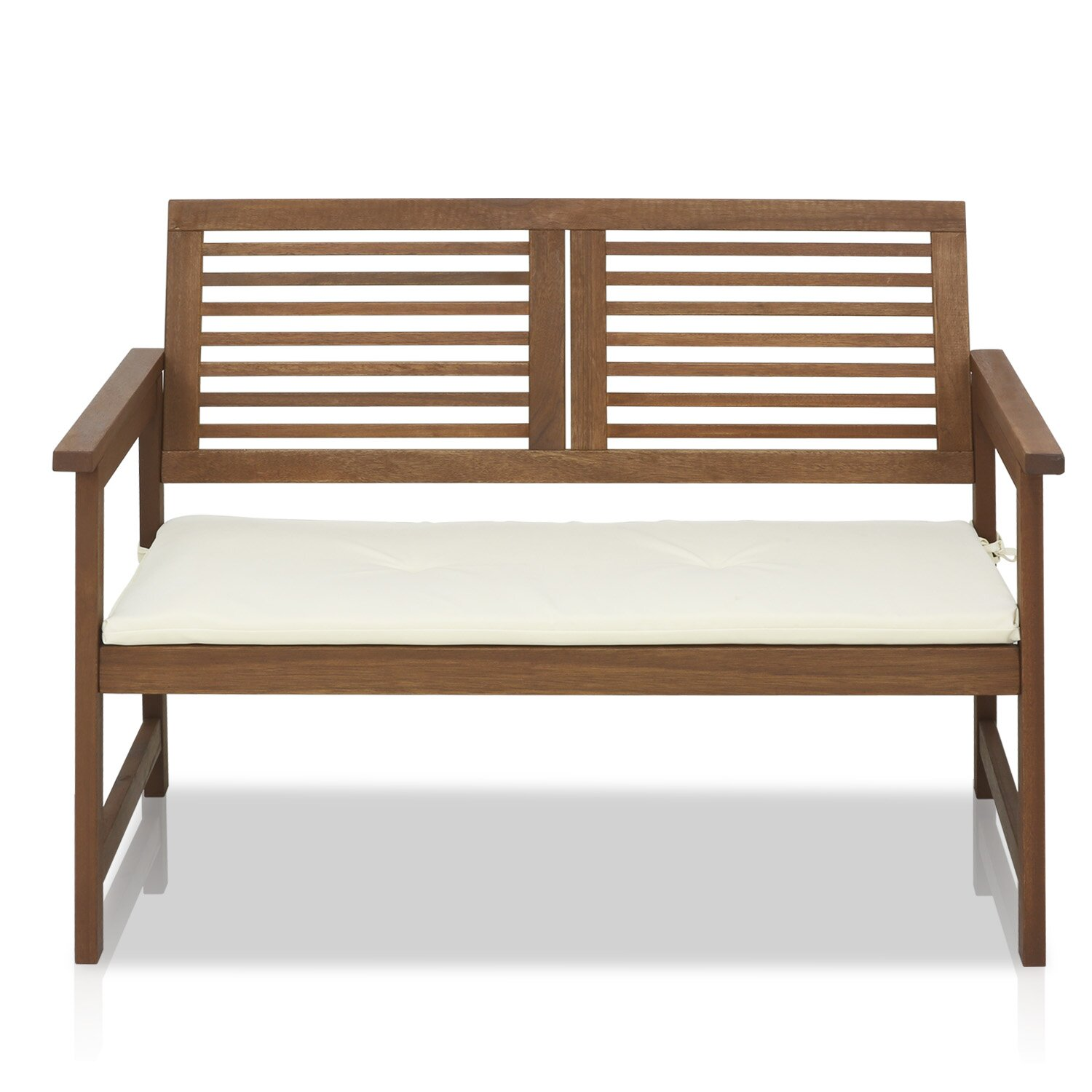 Furinno Tioman Teak Garden Bench with Cushion & Reviews