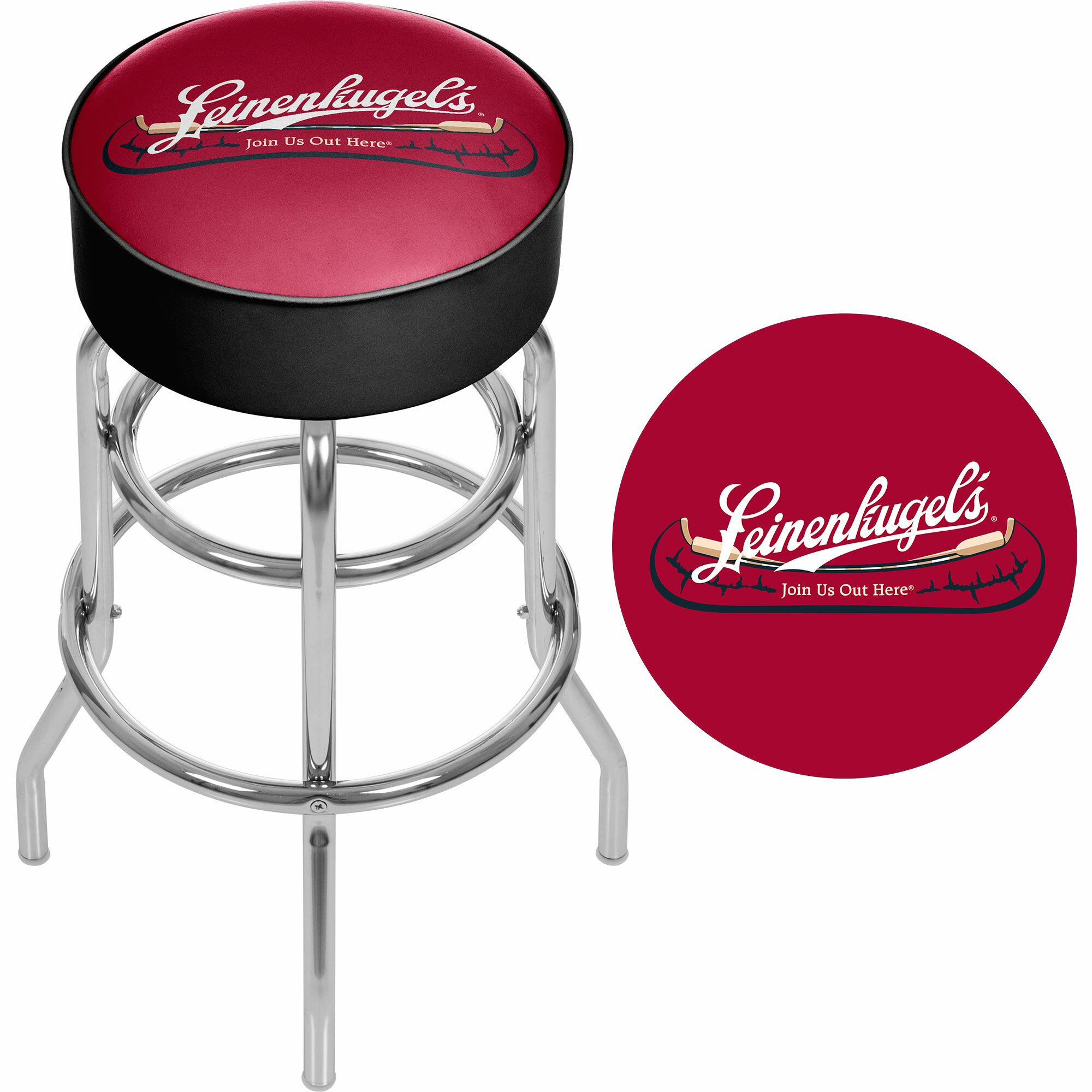 Trademark Global Leinenkugel 31 Quot Swivel Bar Stool Wayfair