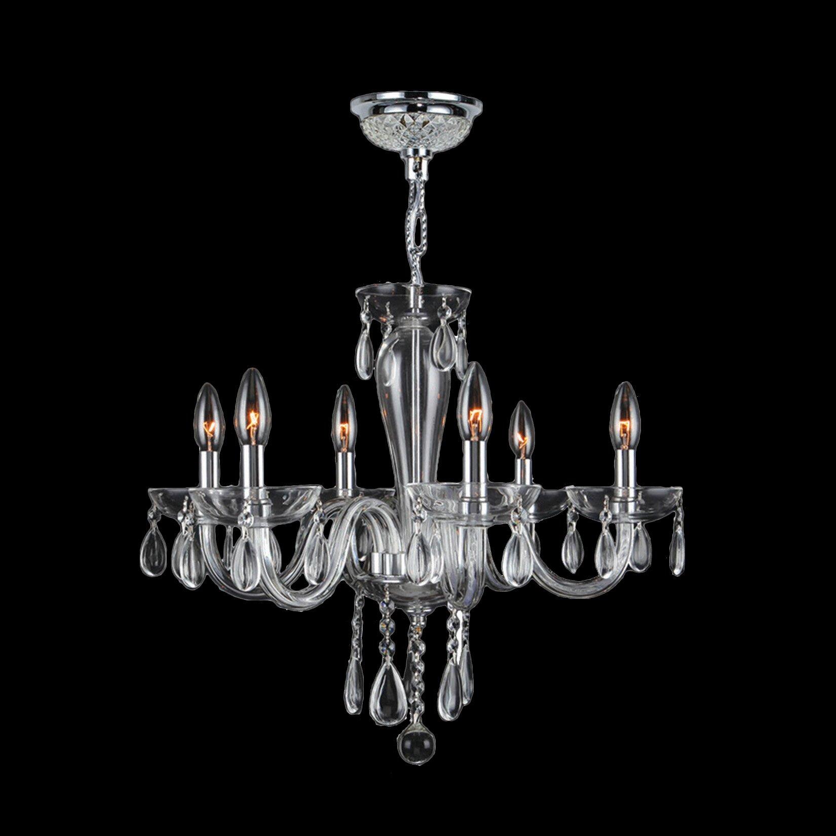 Worldwide Lighting Gastby 6 Light Chandelier & Reviews
