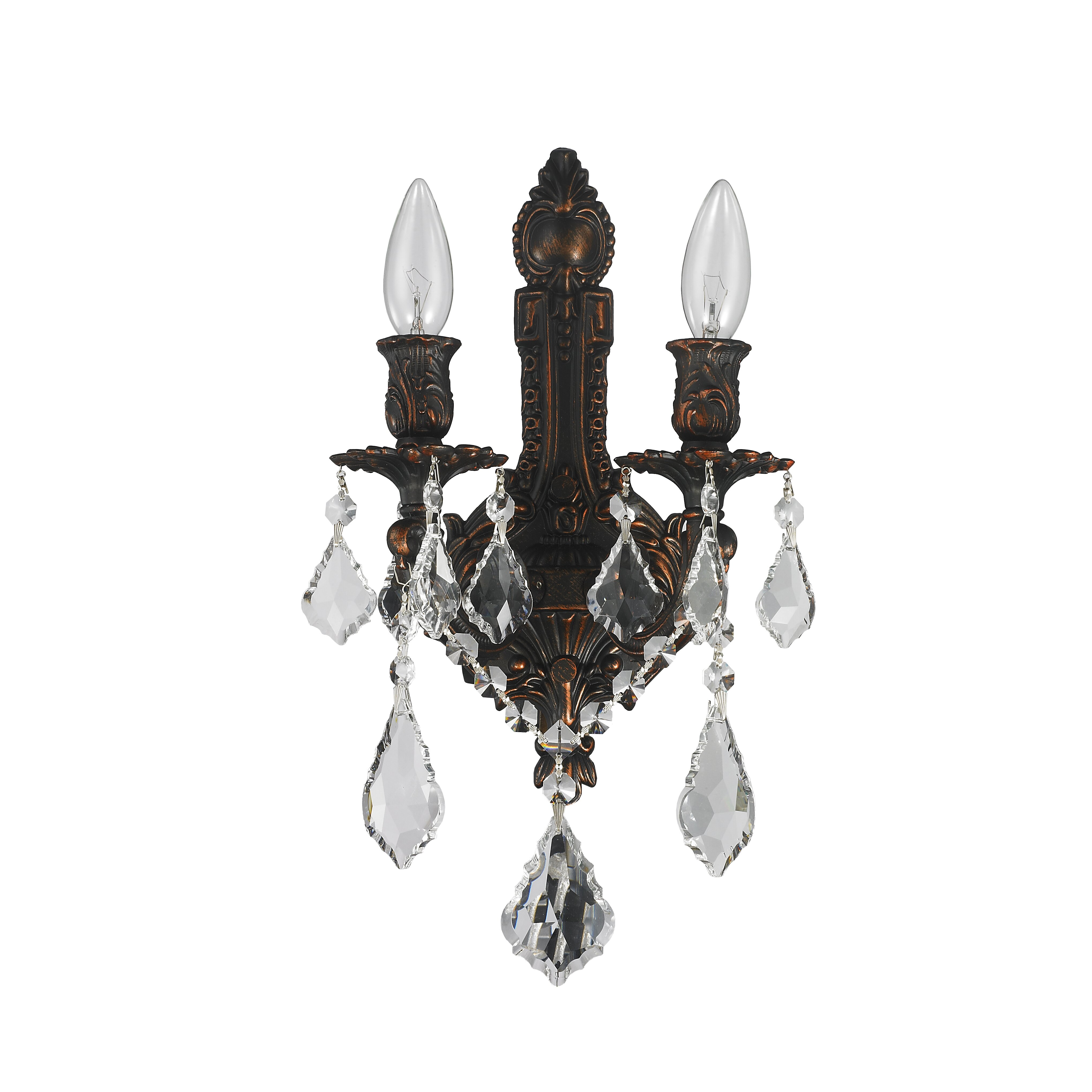 Wall Sconces 2 Lights : Worldwide Lighting Versailles 2 Light Wall Sconce & Reviews Wayfair