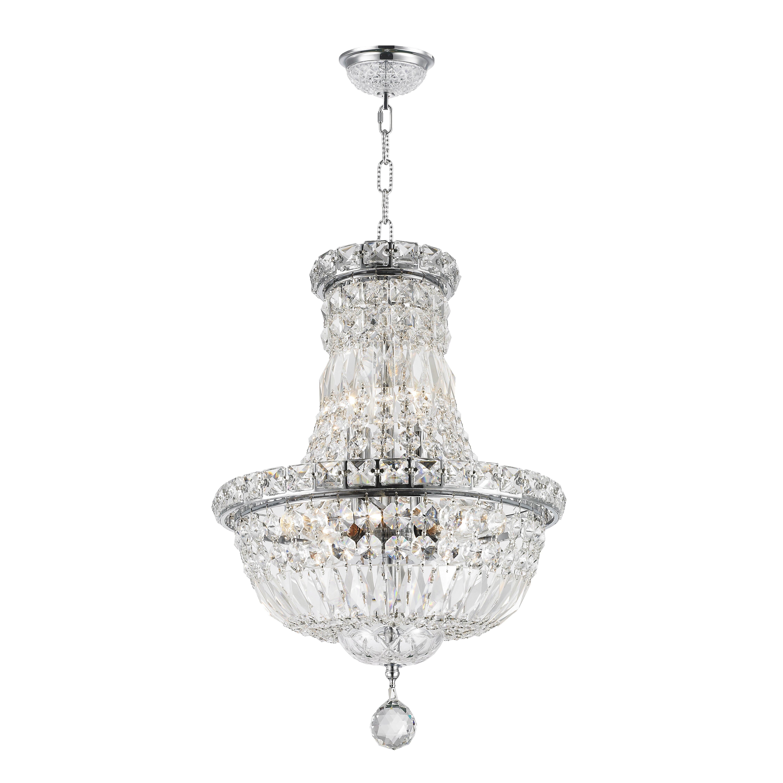 Worldwide lighting empire 6 light crystal chandelier for 6 light crystal chandelier