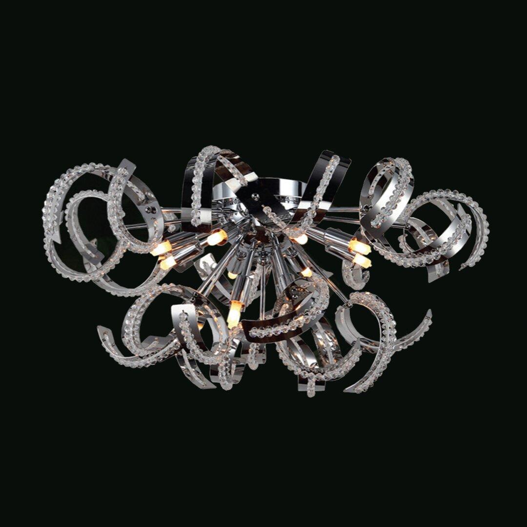 Worldwide lighting medusa 12 light flush mount wayfair for Medusa light fixture