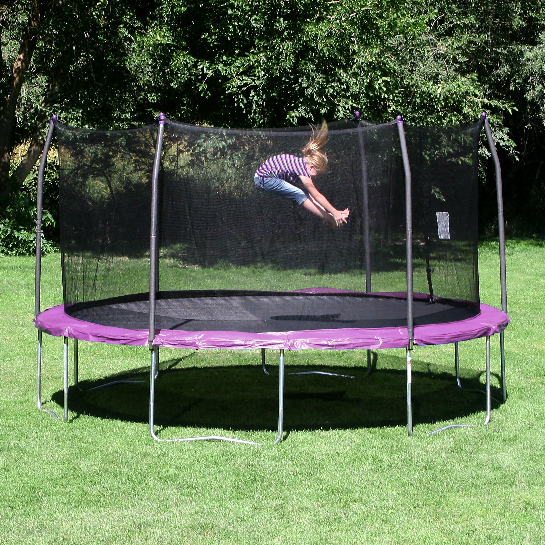 Skywalker 15 39 trampoline with enclosure reviews wayfair for Skywalker trampoline