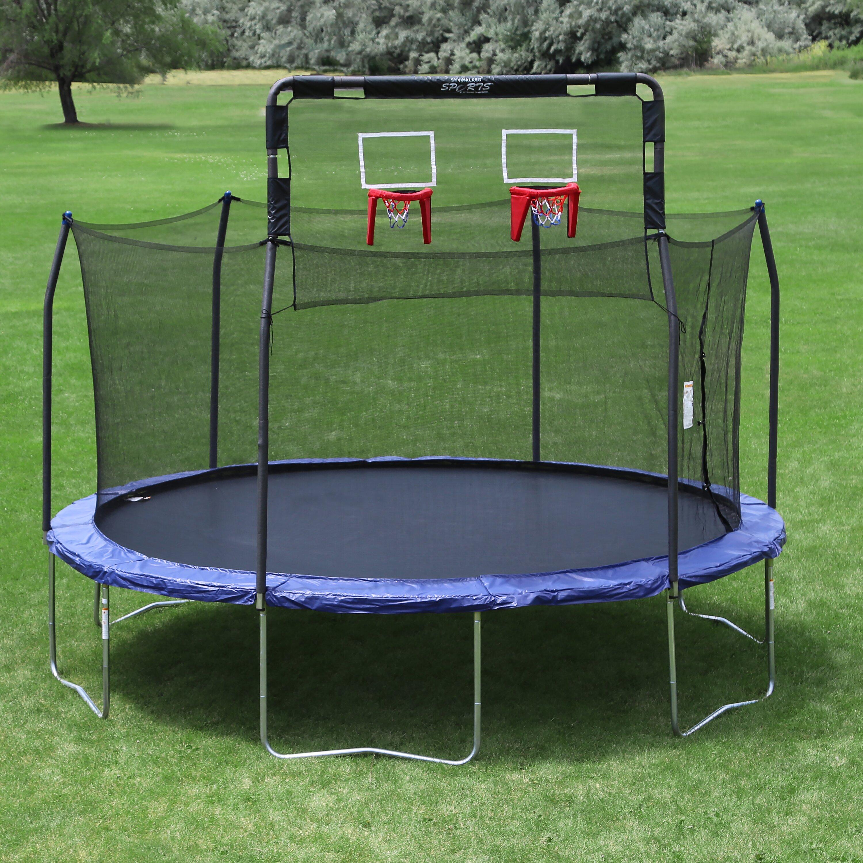 Skywalker double basketball hoop fits 15 39 round 6 pole for Skywalker trampoline