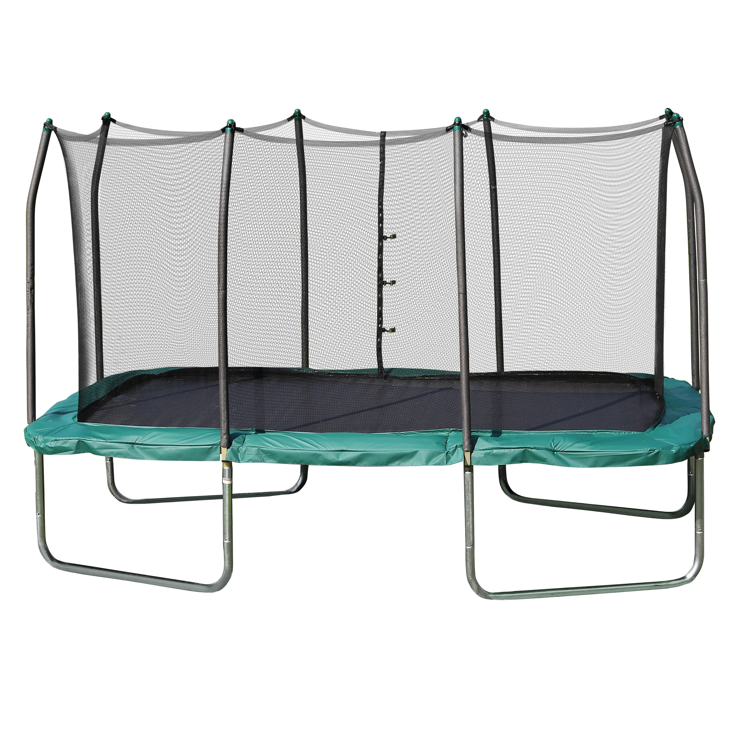 Skywalker 14 Foot Square Trampoline And Enclosure With: Skywalker Summit 14' Rectangle Trampoline With Safety
