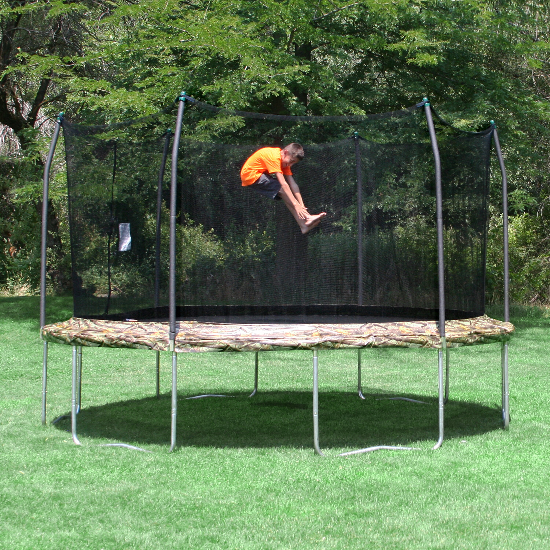 Skywalker camo 12 39 trampoline and enclosure wayfair for Skywalker trampoline