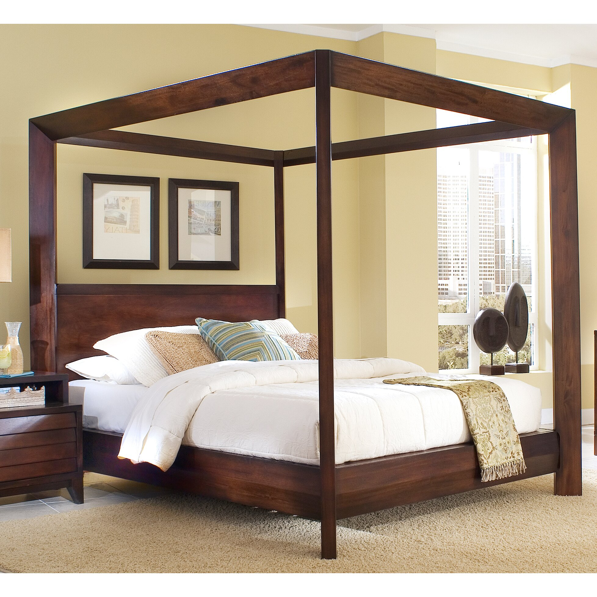 Home Image Island Canopy Bed Amp Reviews Wayfair