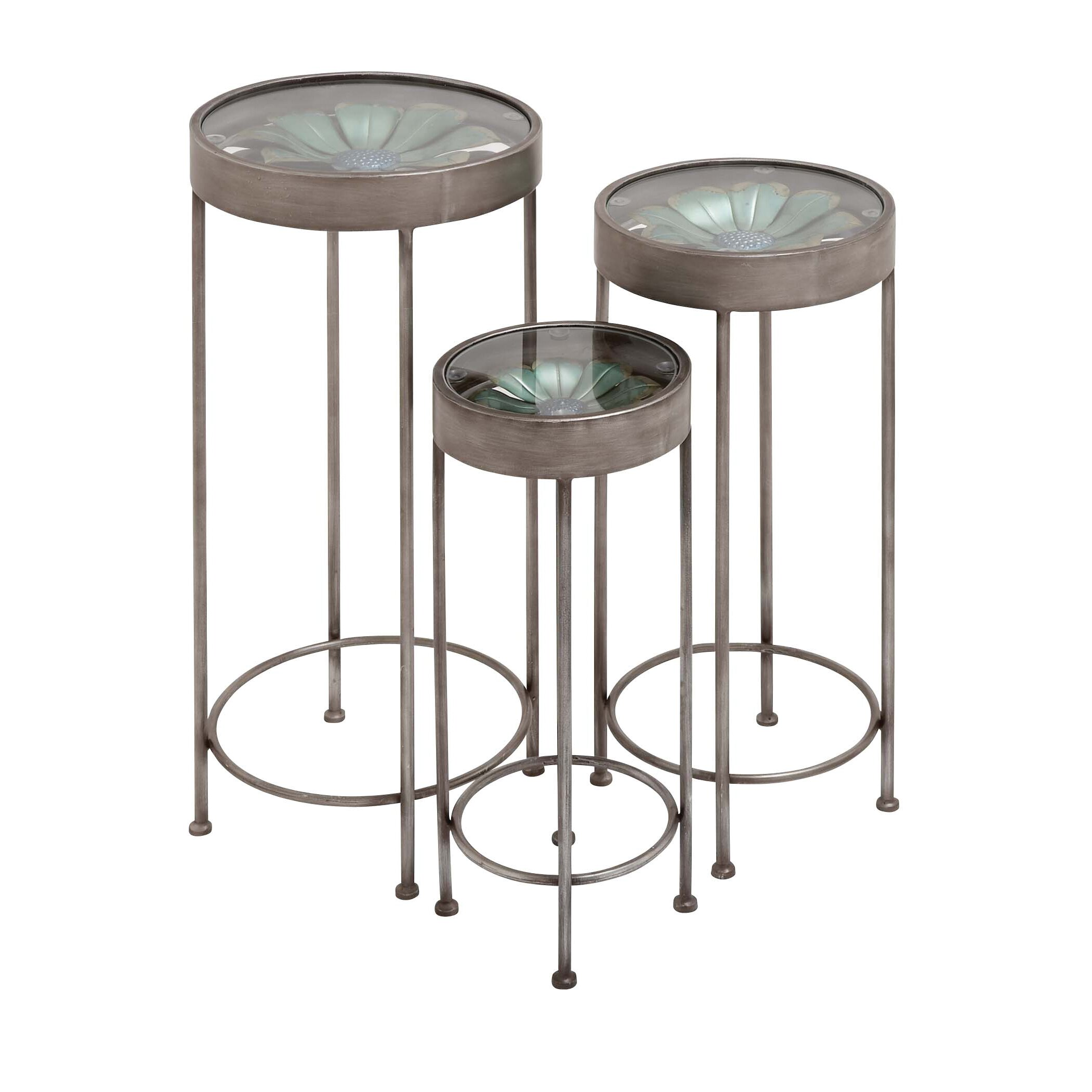 Woodland Imports 3 Piece The Super Cool Plant Stand Set & Reviews