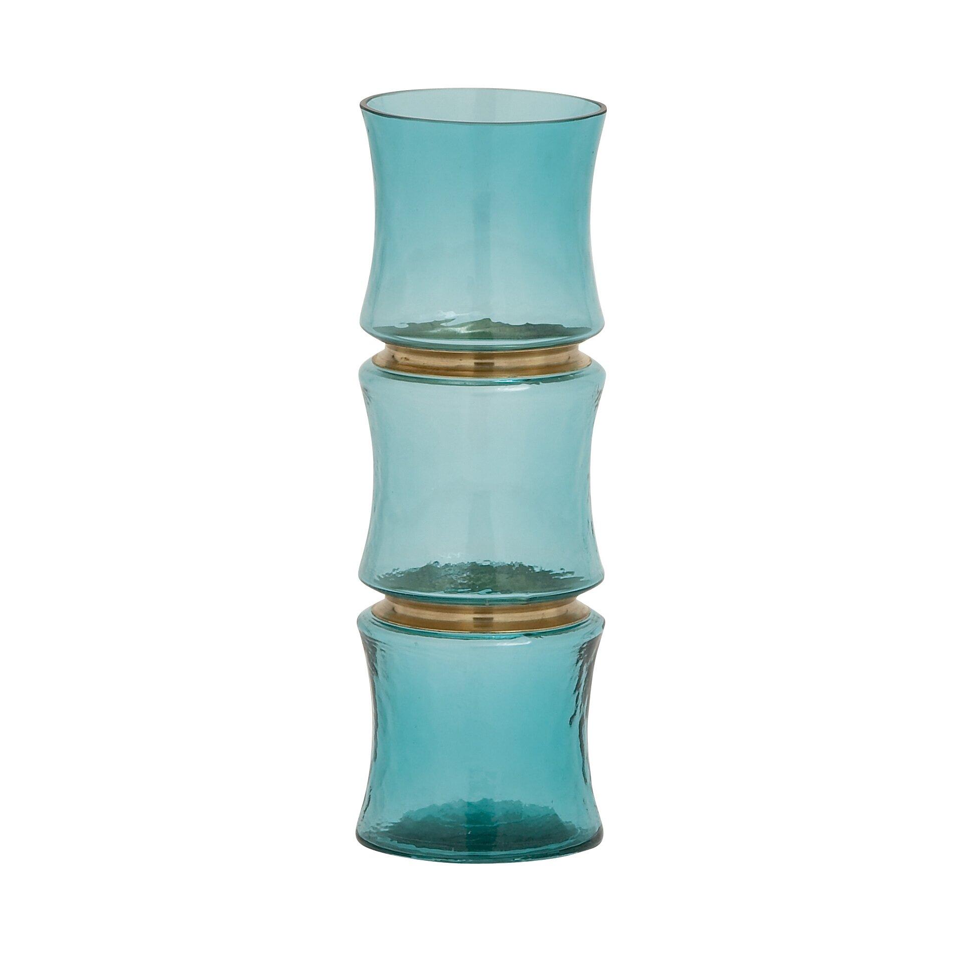 woodland imports unique glass vase reviews wayfair