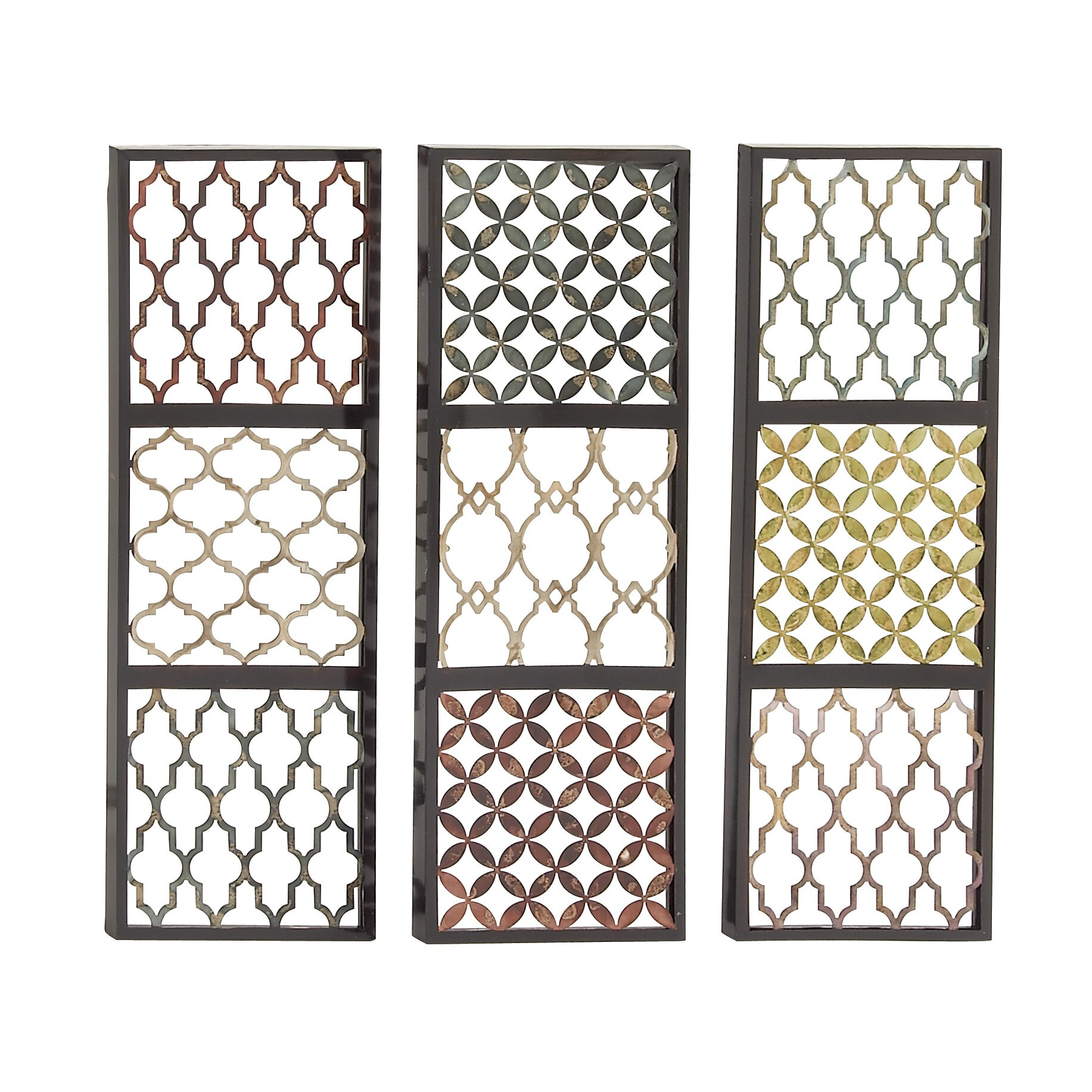 Woodland Imports 3 Piece Priceless Metal Wall D Cor Set