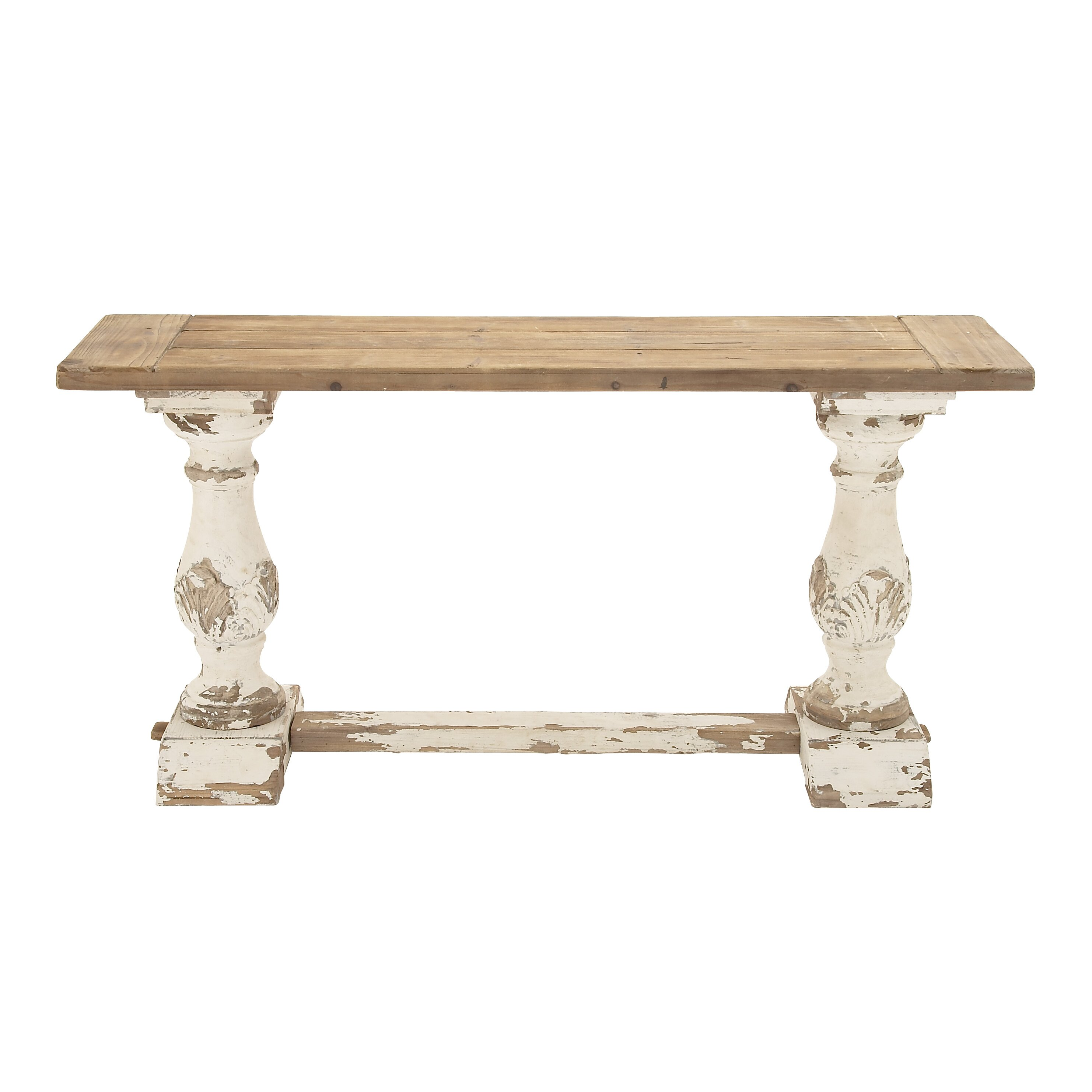 Woodland imports wood console table reviews wayfair