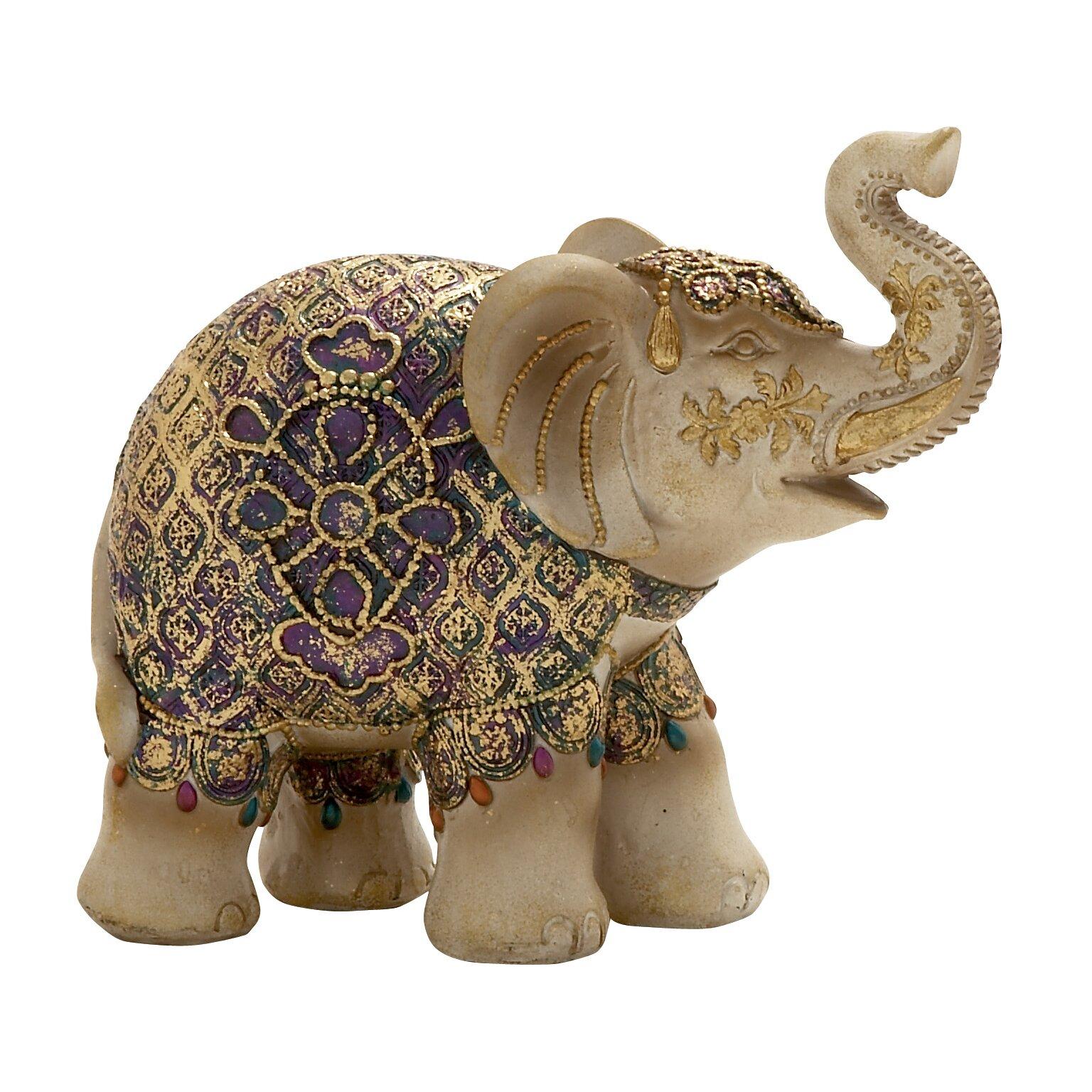 woodland imports elephant figurine reviews wayfair. Black Bedroom Furniture Sets. Home Design Ideas