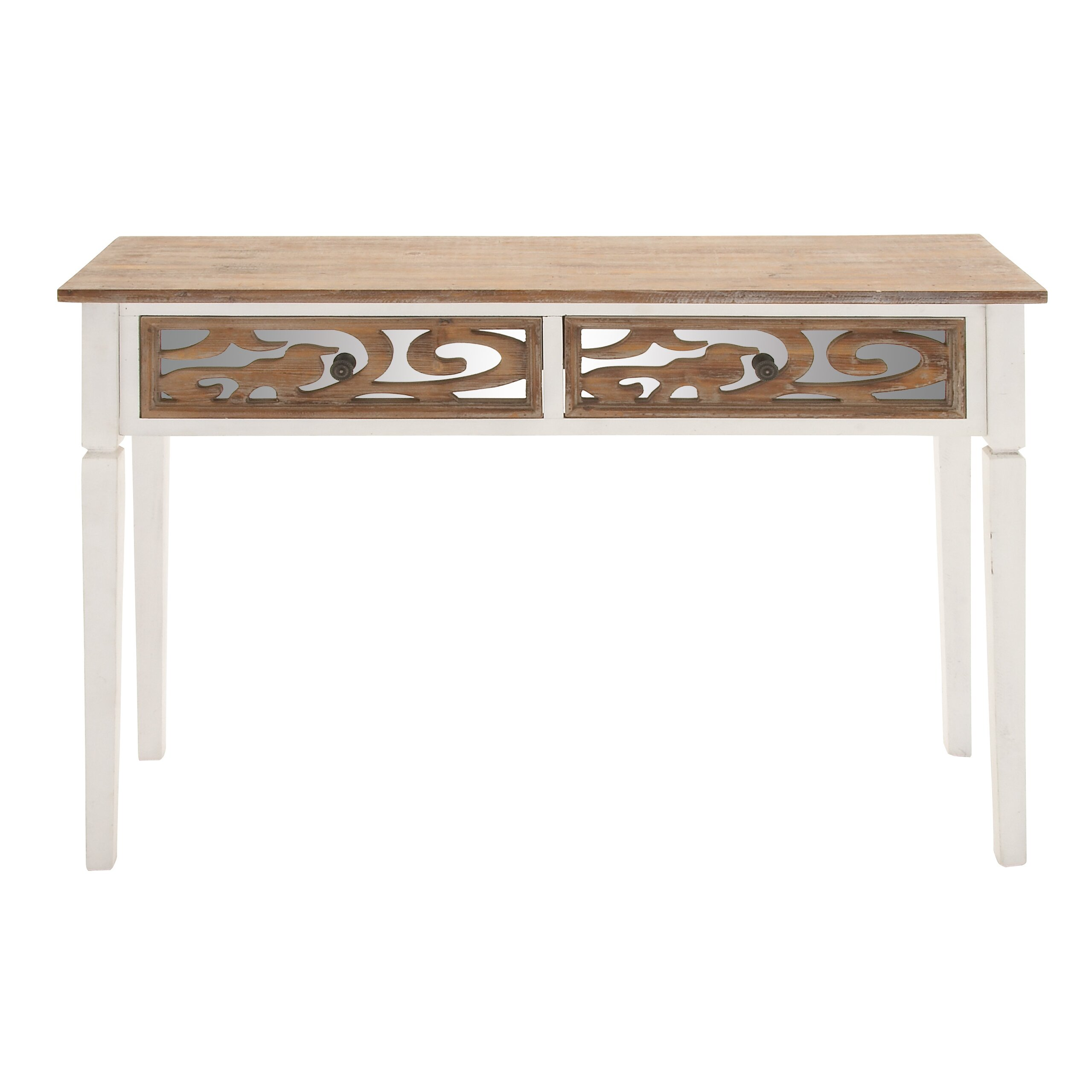 Woodland imports mirror console table wayfair - Table console miroir ...