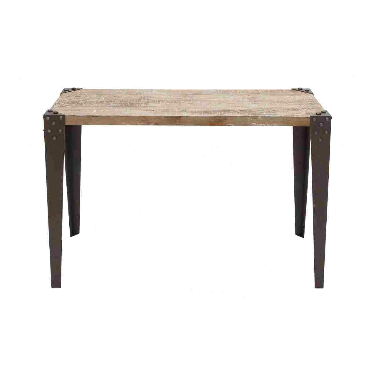 Woodland imports metal wood console table reviews wayfair Metal console table
