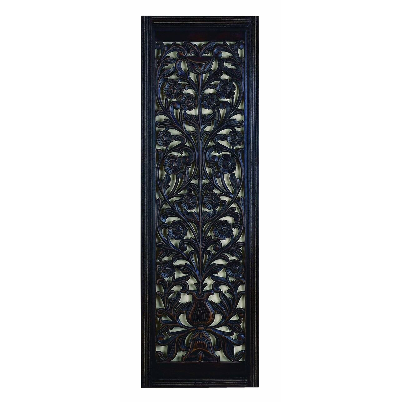 Woodland Imports Hand Carved Wooden Wall D Cor Reviews