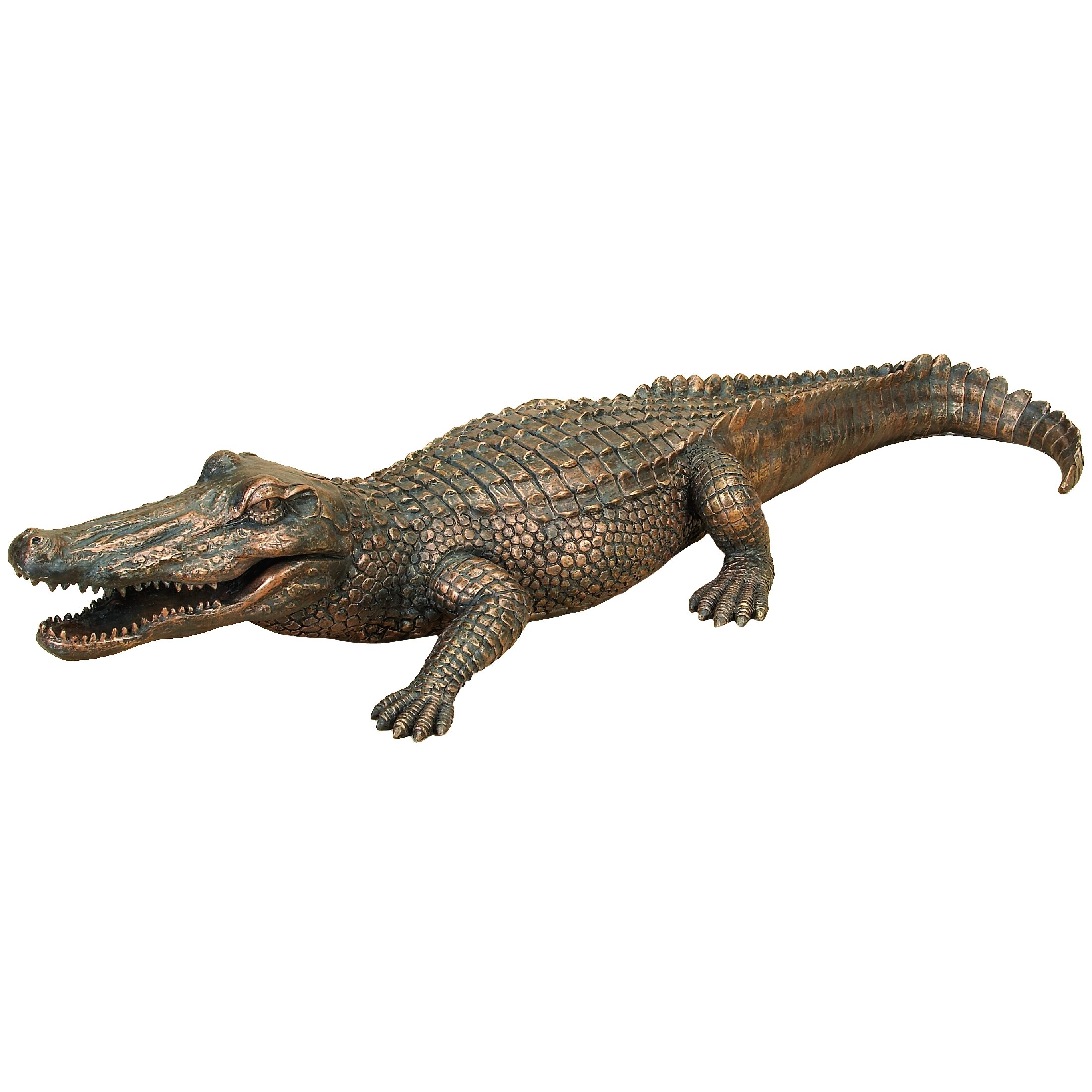 woodland imports alligator garden statue reviews wayfair. Black Bedroom Furniture Sets. Home Design Ideas