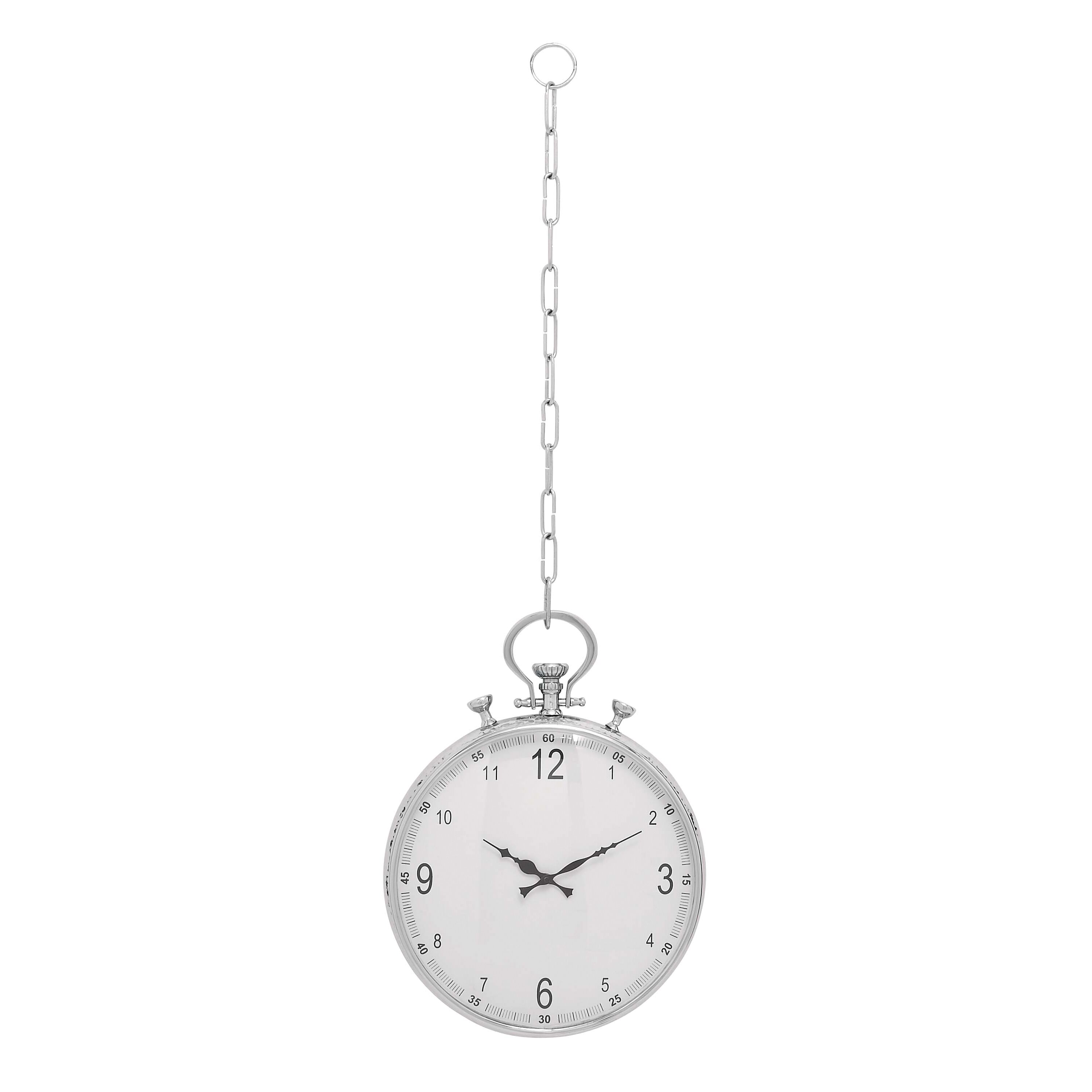 """Woodland Imports Classic 15"""" Pocket Watch Hanging Wall ..."""