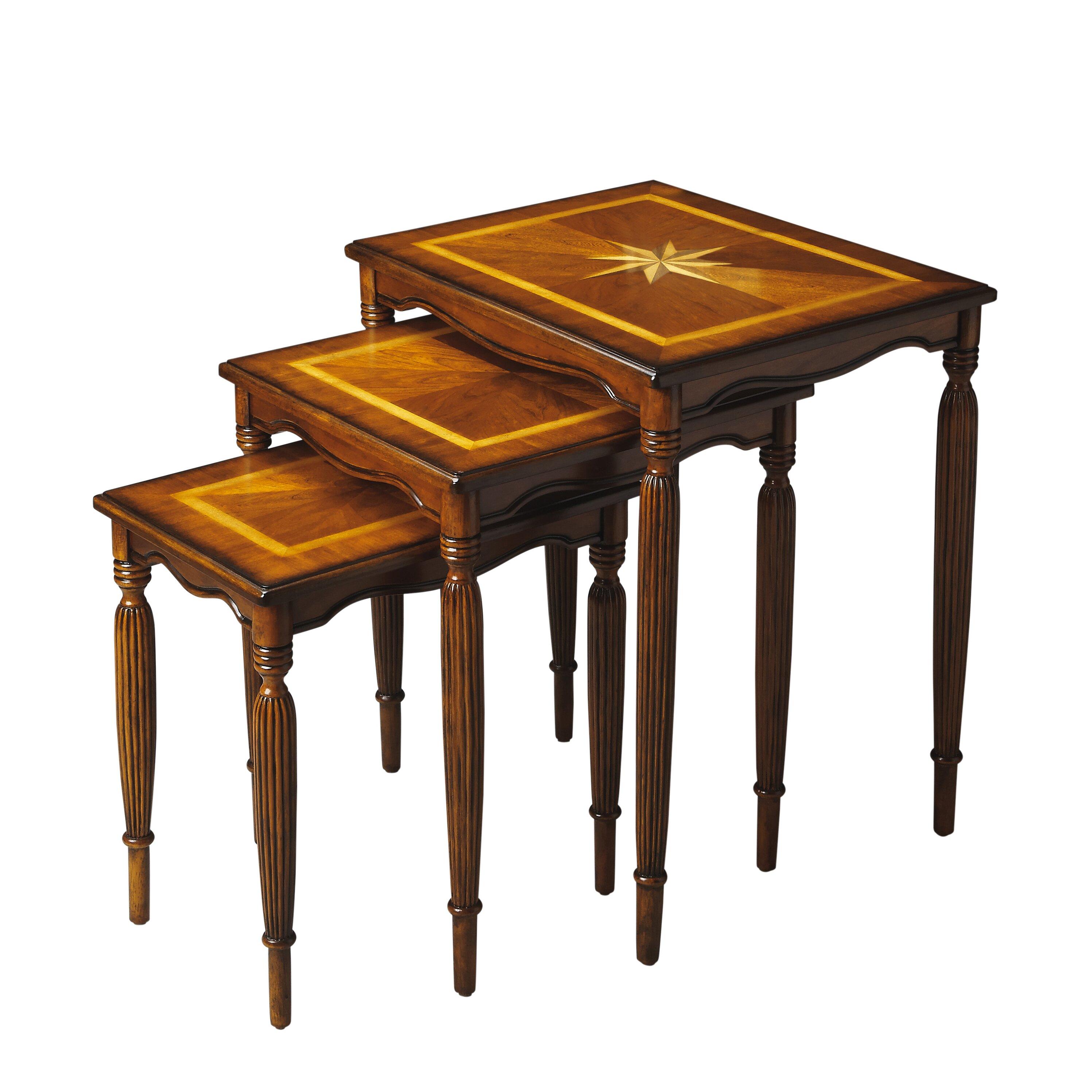 Butler Masterpiece 3 Piece Nesting Tables & Reviews | Wayfair