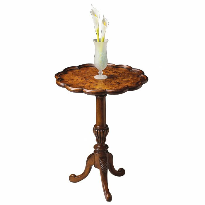 butler masterpiece pedestal end table in olive ash burl reviews wayfair. Black Bedroom Furniture Sets. Home Design Ideas