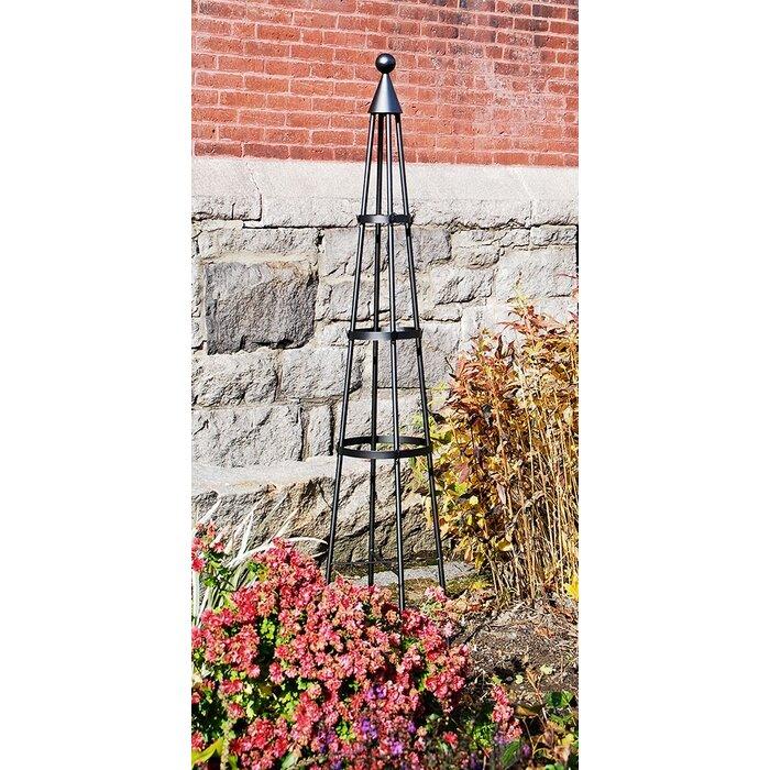 Bentley Garden Wrought Iron Set Of 2 Metal Obelisks: ACHLA Obelisk In Black & Reviews