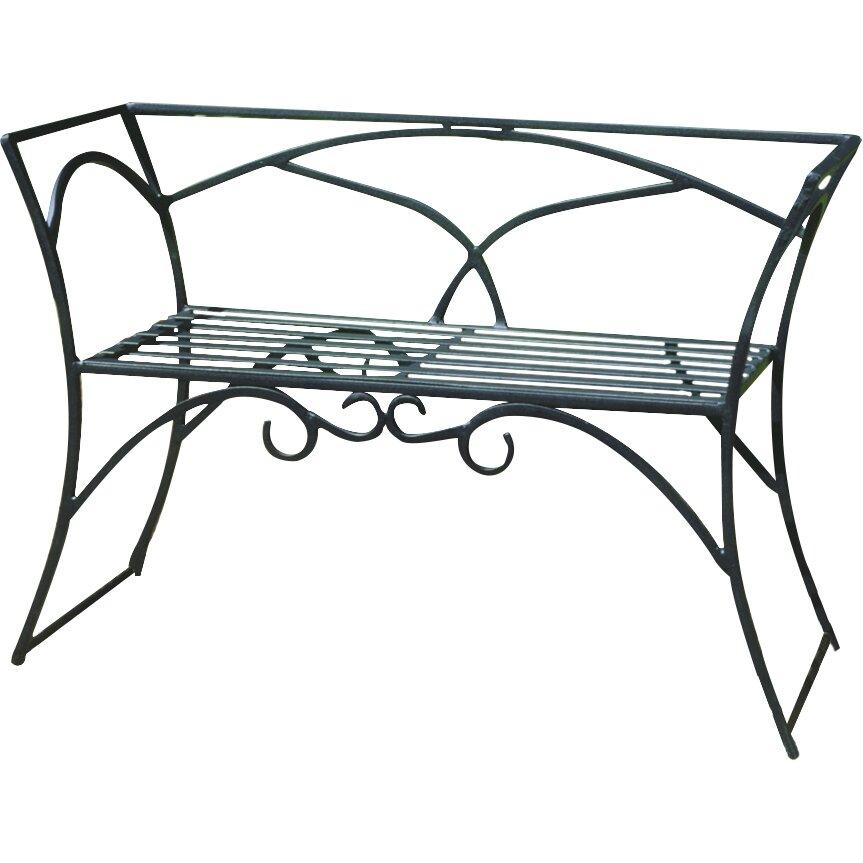 Achla Arbor Wrought Iron Garden Bench Reviews Wayfair