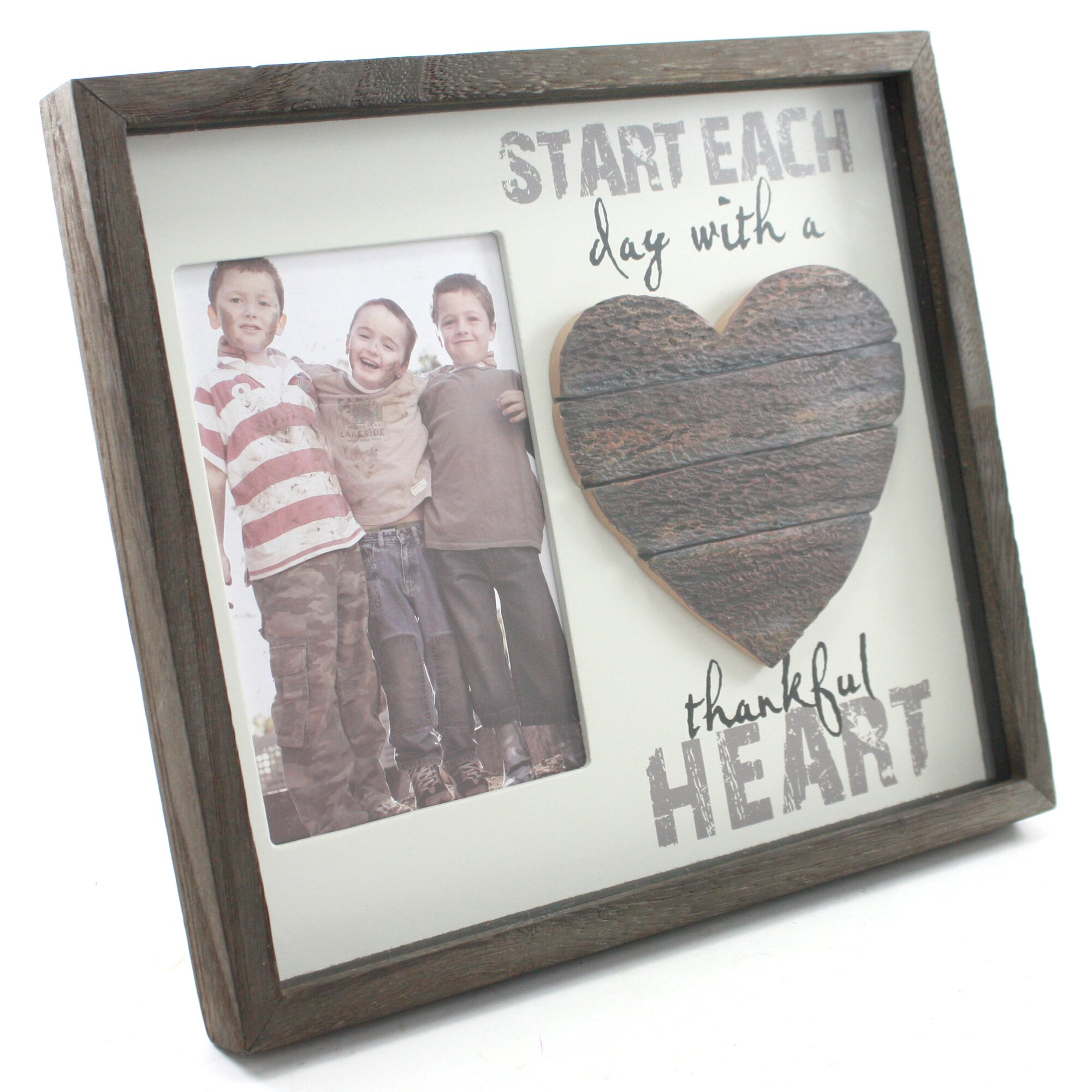 Fetco Home Decor Cleary Thankful Heart Picture Frame
