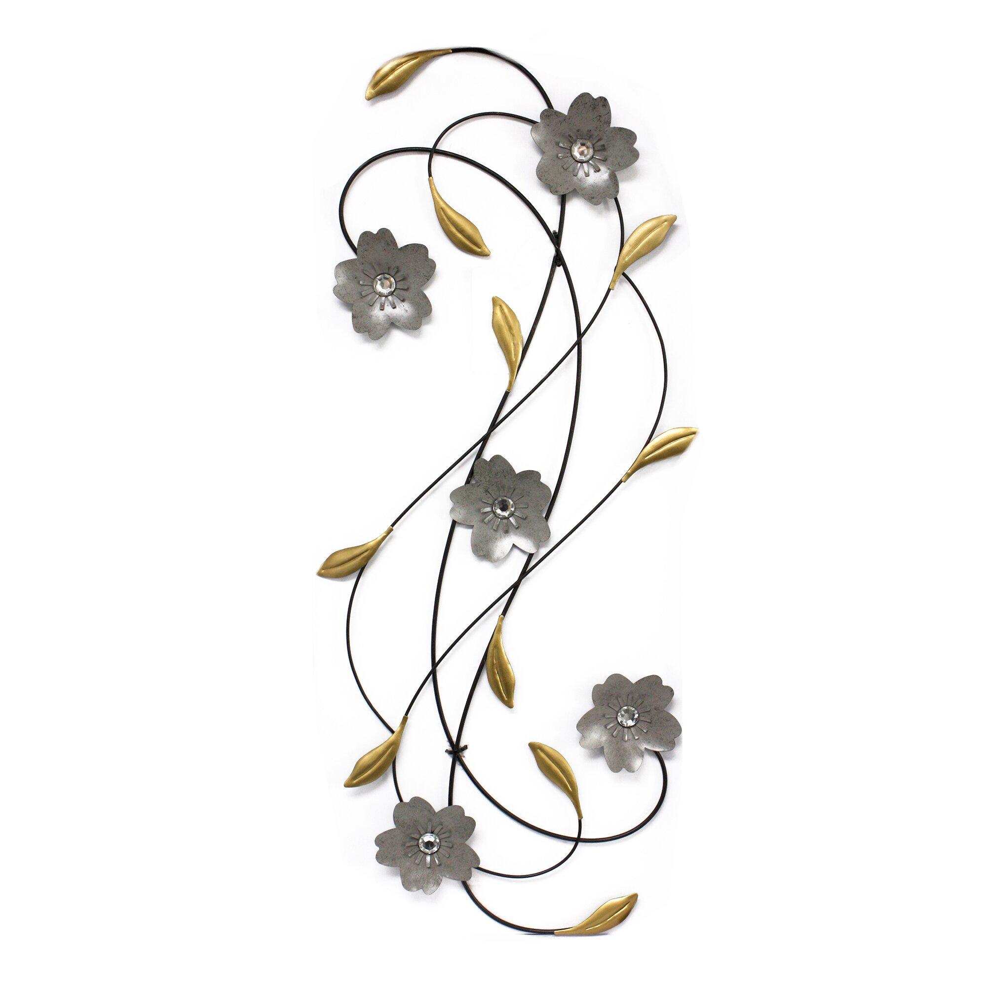 fetco home decor adira flower scrolls wall d cor. Black Bedroom Furniture Sets. Home Design Ideas