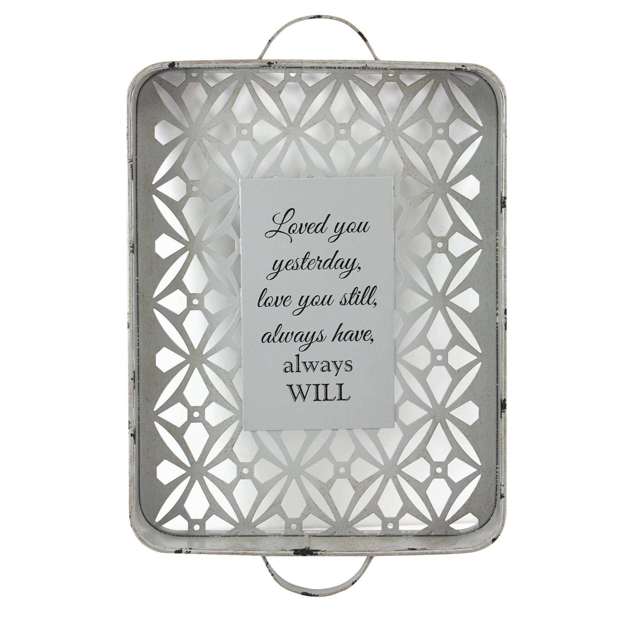 Fetco Home Decor Elzie Love You Still Distressed