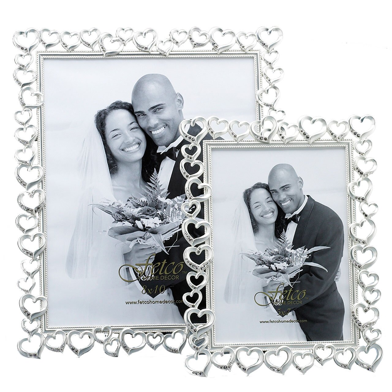 Fetco Home Decor Wedding Open Heart With Crystals Picture