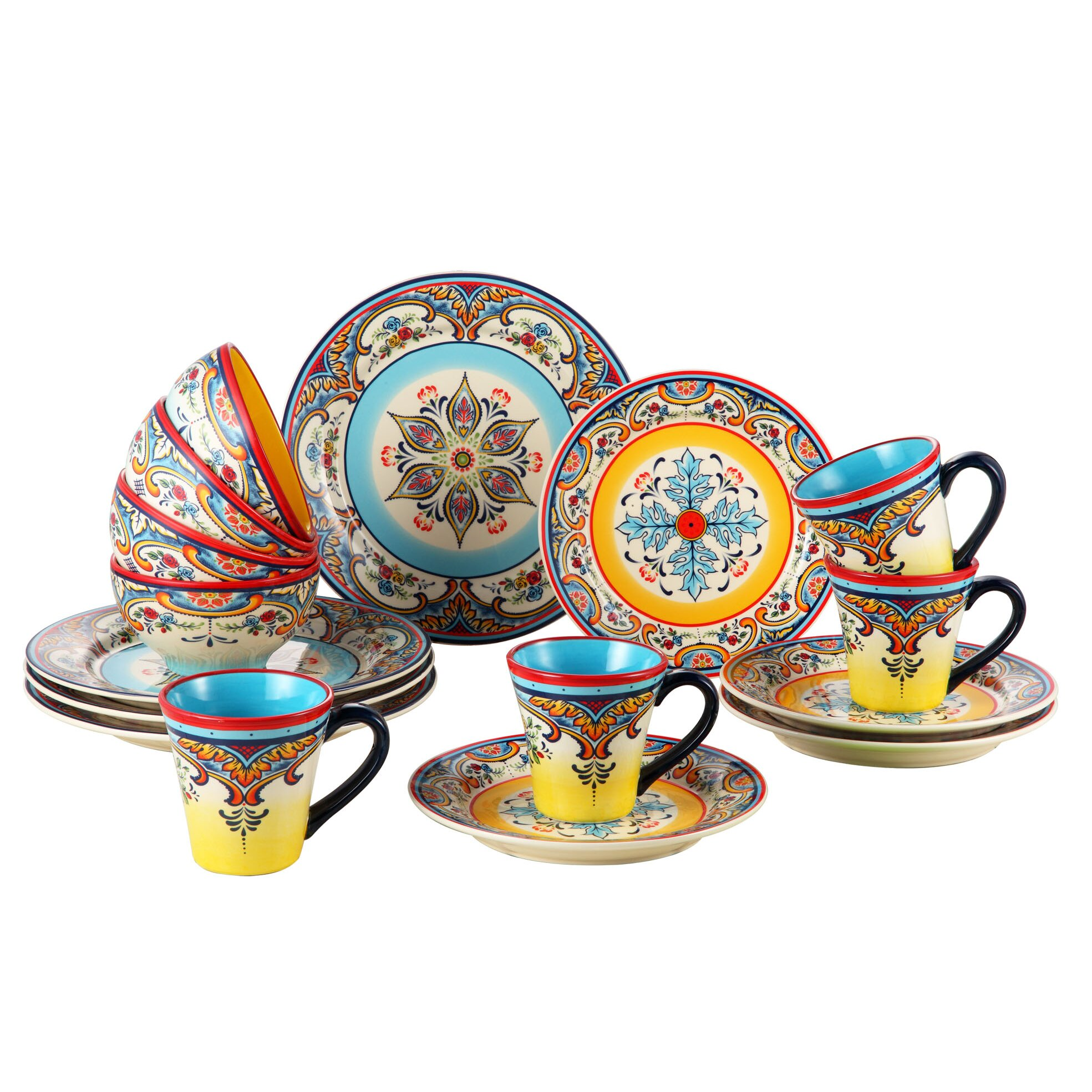 Euroceramica Zanzibar 16 Piece Dinnerware Set Amp Reviews