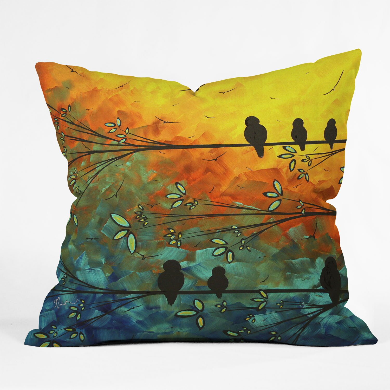 Throw Pillows With Feather Design : DENY Designs Madart Inc. Birds Of A Feather Throw Pillow & Reviews Wayfair