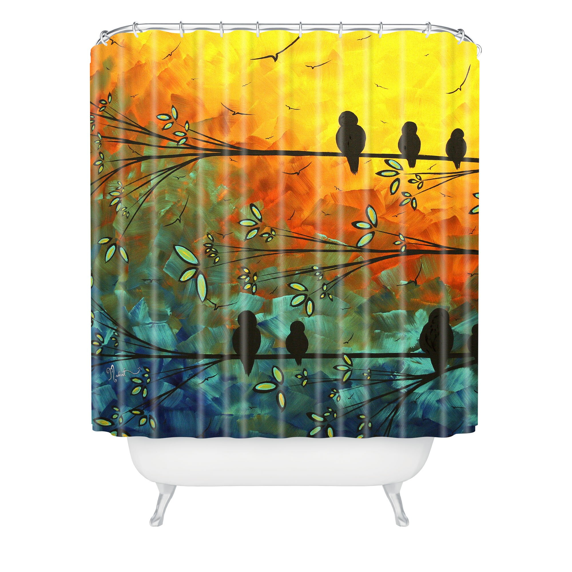 Deny Designs Madart Inc Birds Of A Feather Shower Curtain