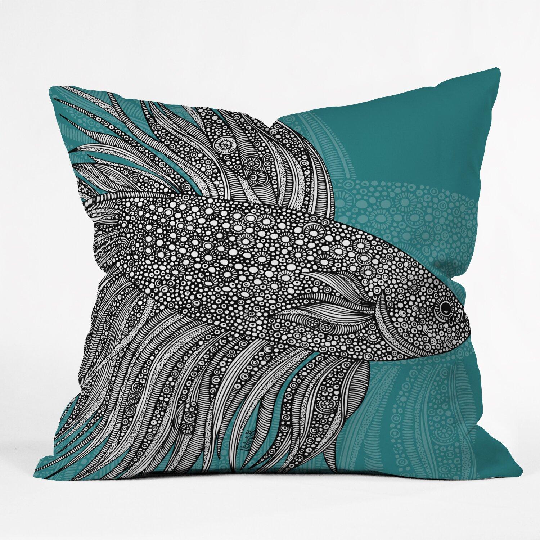 Deny designs valentina ramos beta fish throw pillow for Fish throw pillows